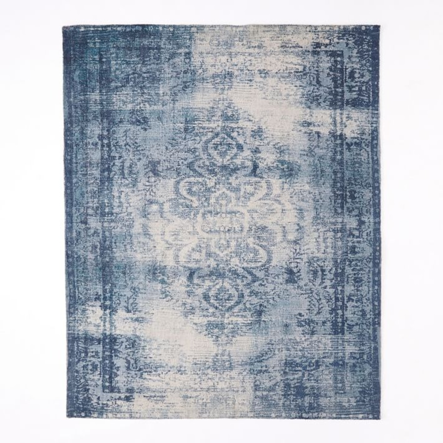 West Elm Distressed Arabesque Wool Rug - image-3