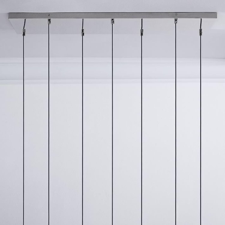 West Elm Sculptural Glass 7 Lt Linear Canopy - image-1