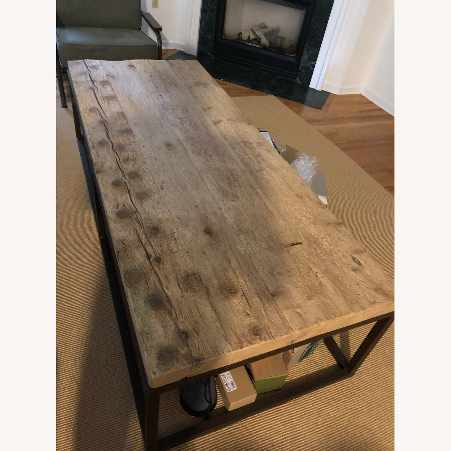 Restoration Hardware Reclaimed Coffee Table - image-1