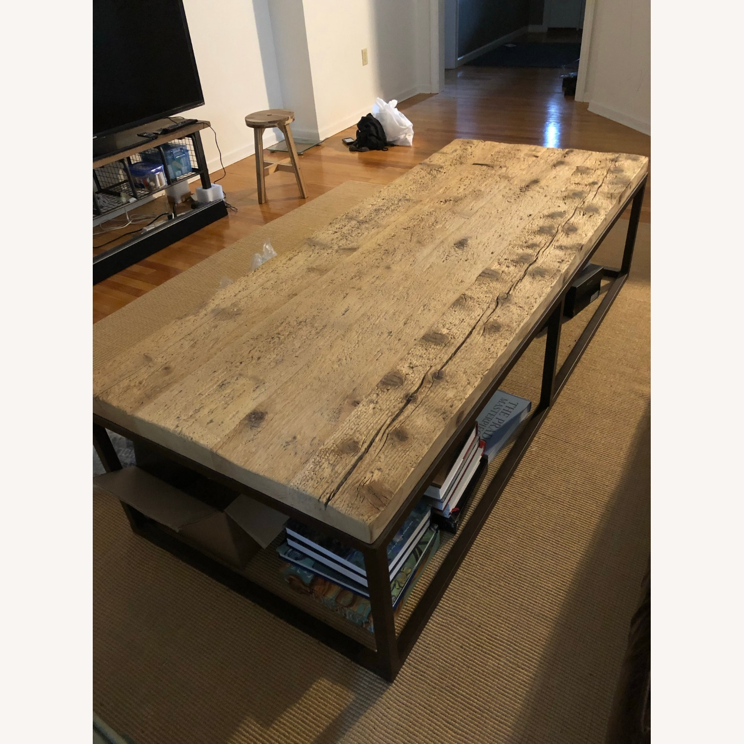 Restoration Hardware Reclaimed Coffee Table - image-3