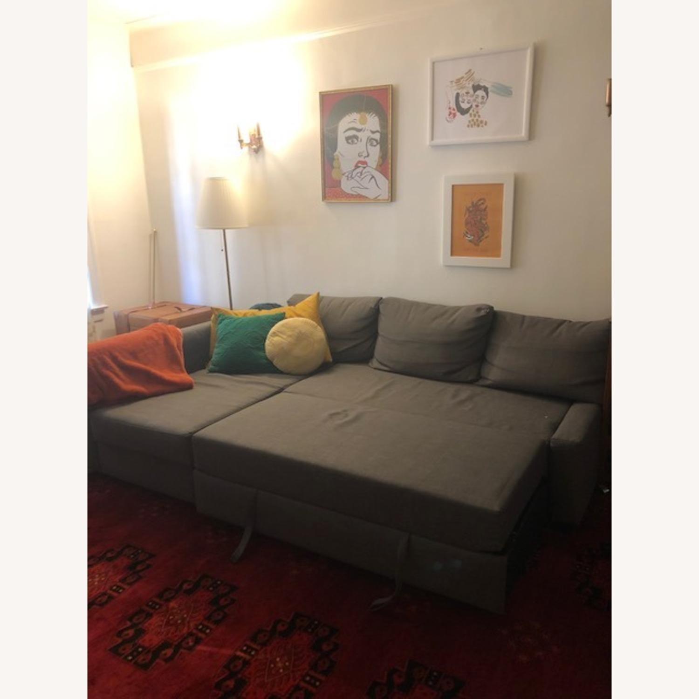 IKEA Gray Sleeper Sectional - 3 Piece - image-2