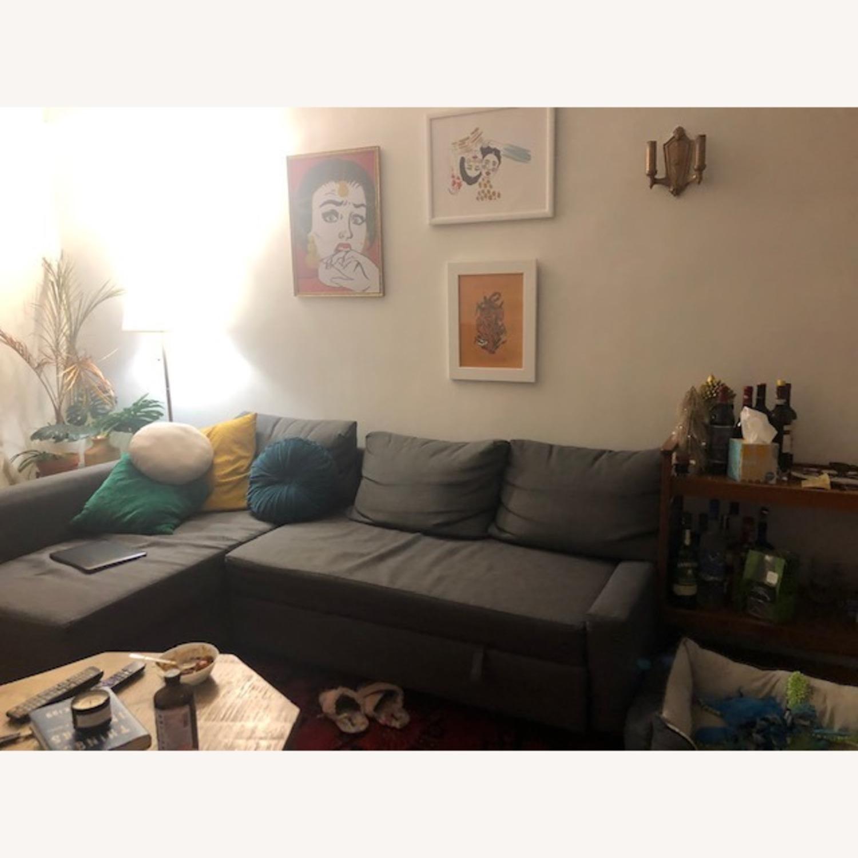 IKEA Gray Sleeper Sectional - 3 Piece - image-0