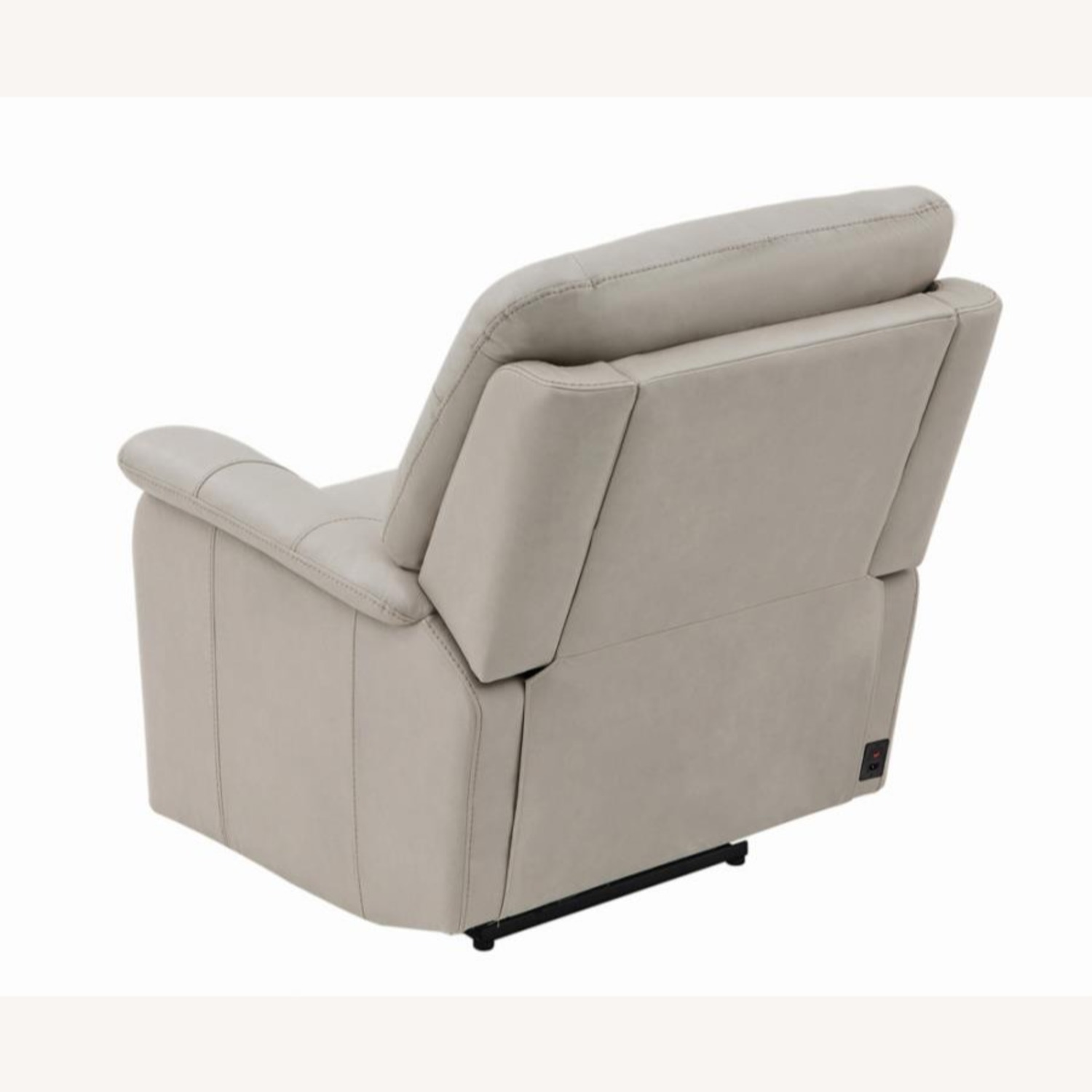 Power Recliner In Cream Top Grain Leather - image-4