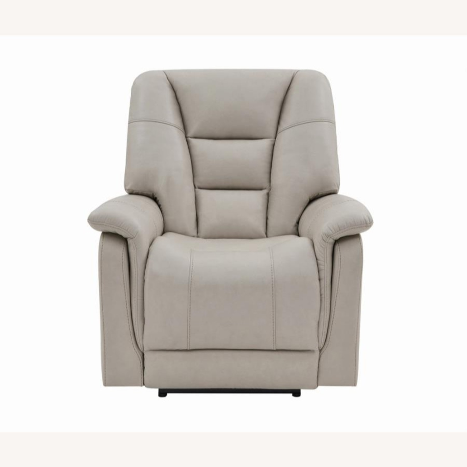Power Recliner In Cream Top Grain Leather - image-2