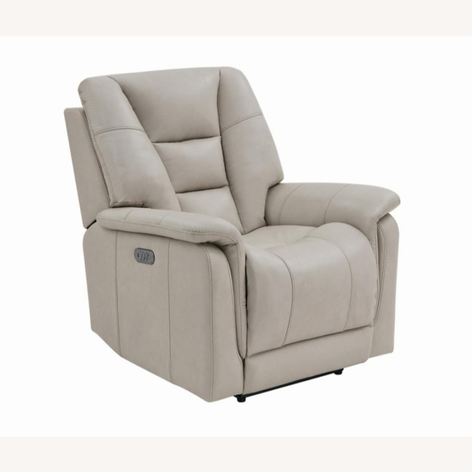 Power Recliner In Cream Top Grain Leather - image-0
