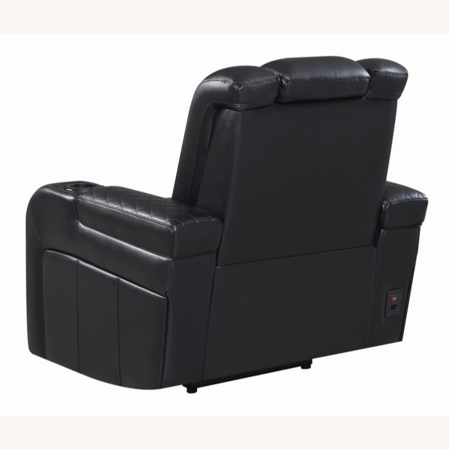 Power Recliner In Black Performance Leatherette - image-4