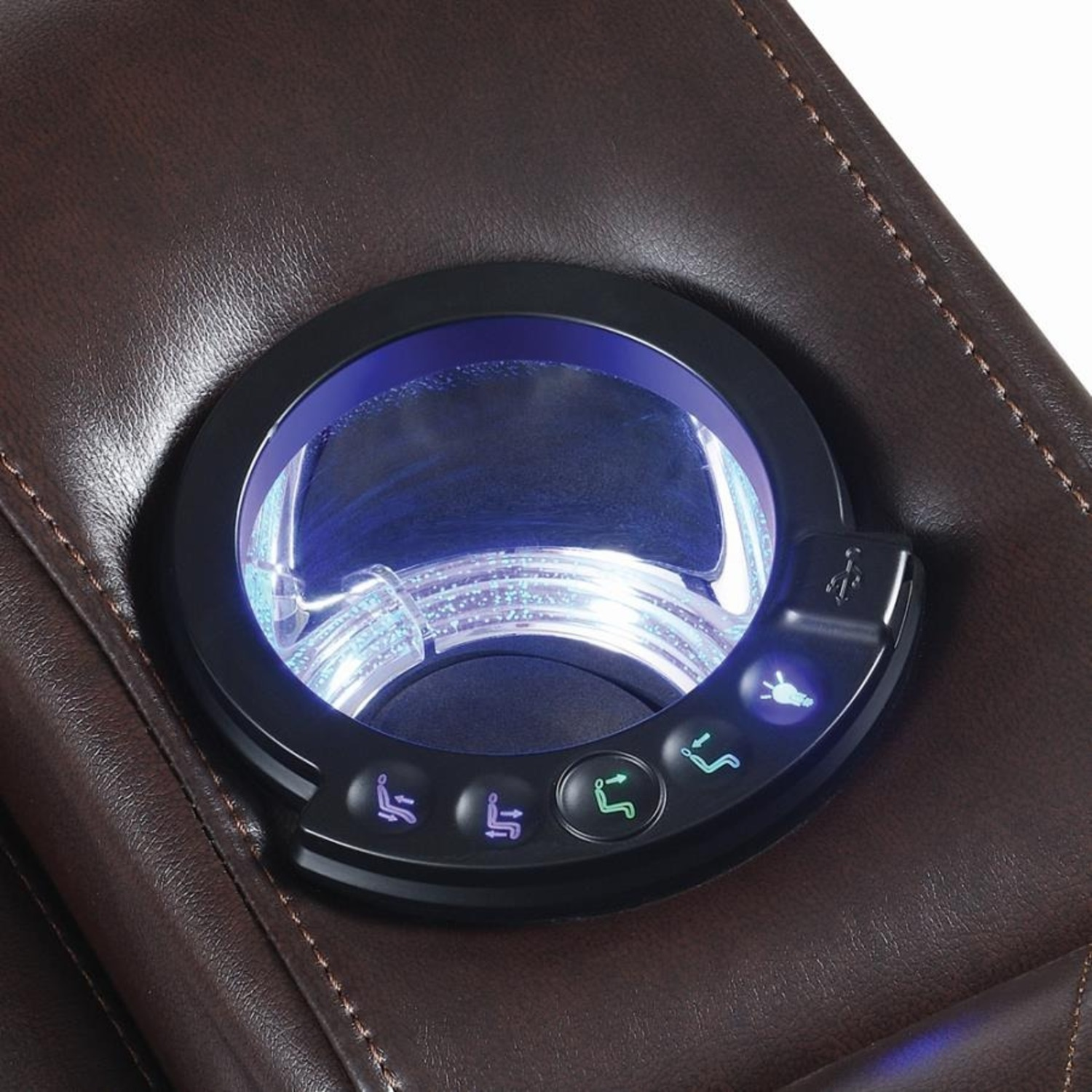 Power Recliner In Brown Performance Leatherette - image-6