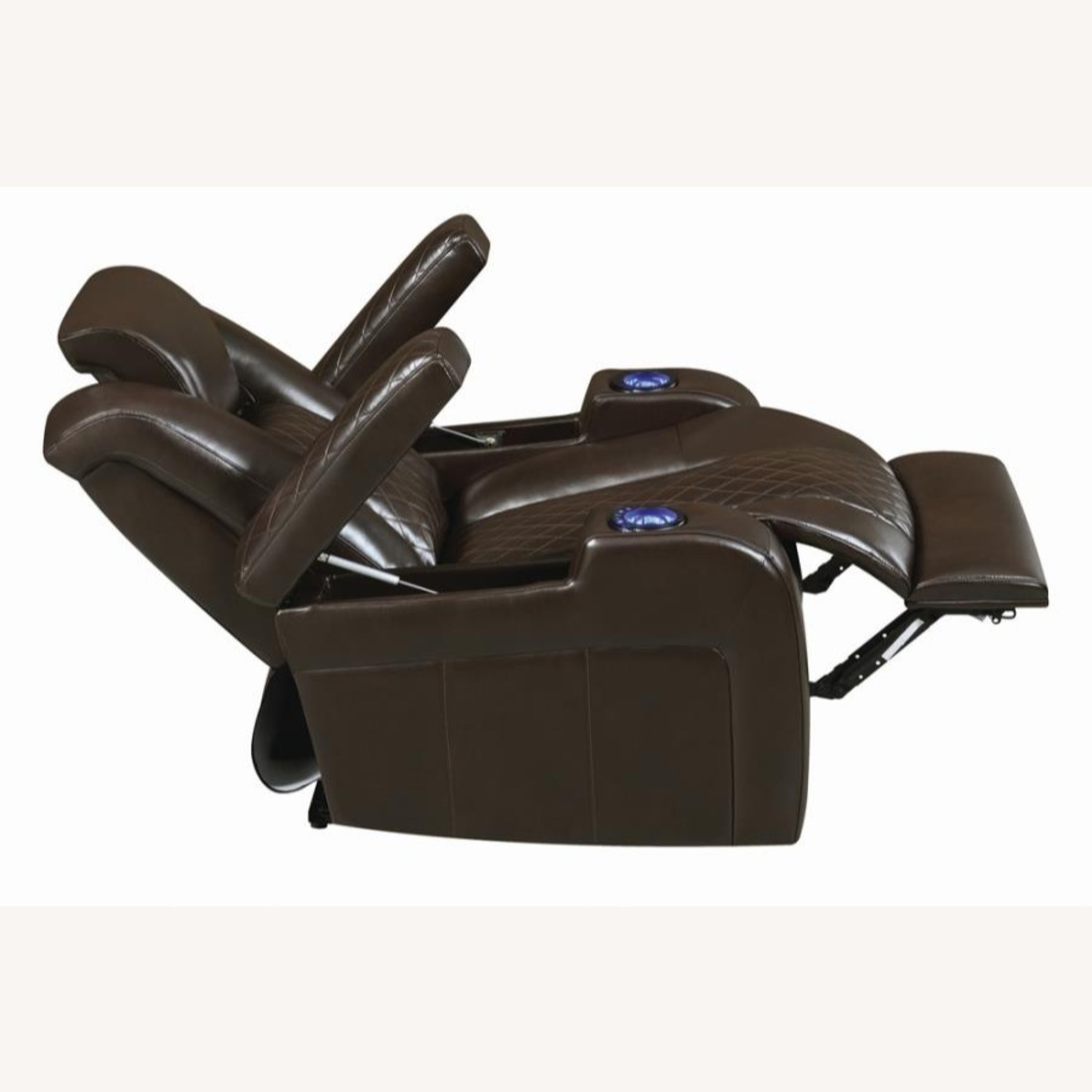 Power Recliner In Brown Performance Leatherette - image-5