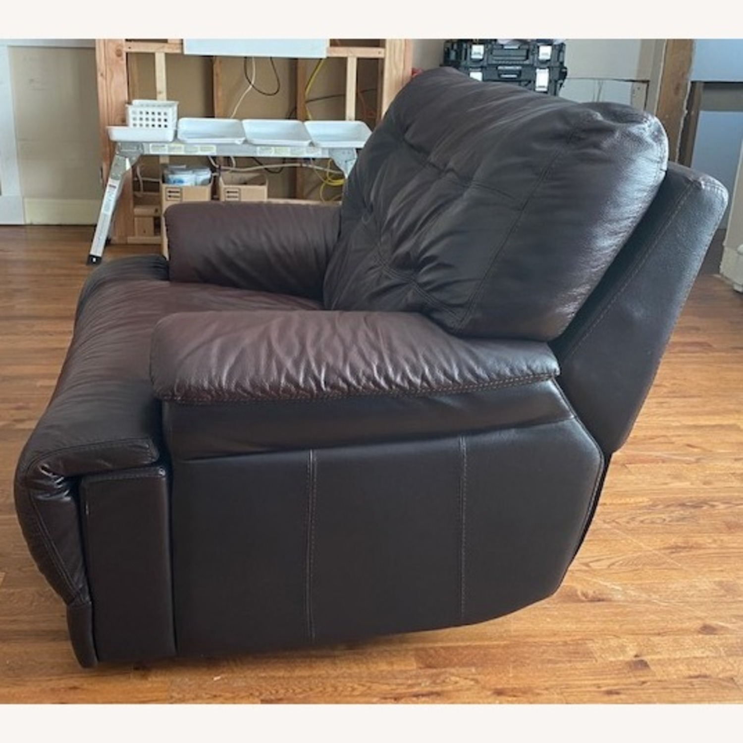 Chateau D'ax Expresso Leather Recliner Chair - image-4