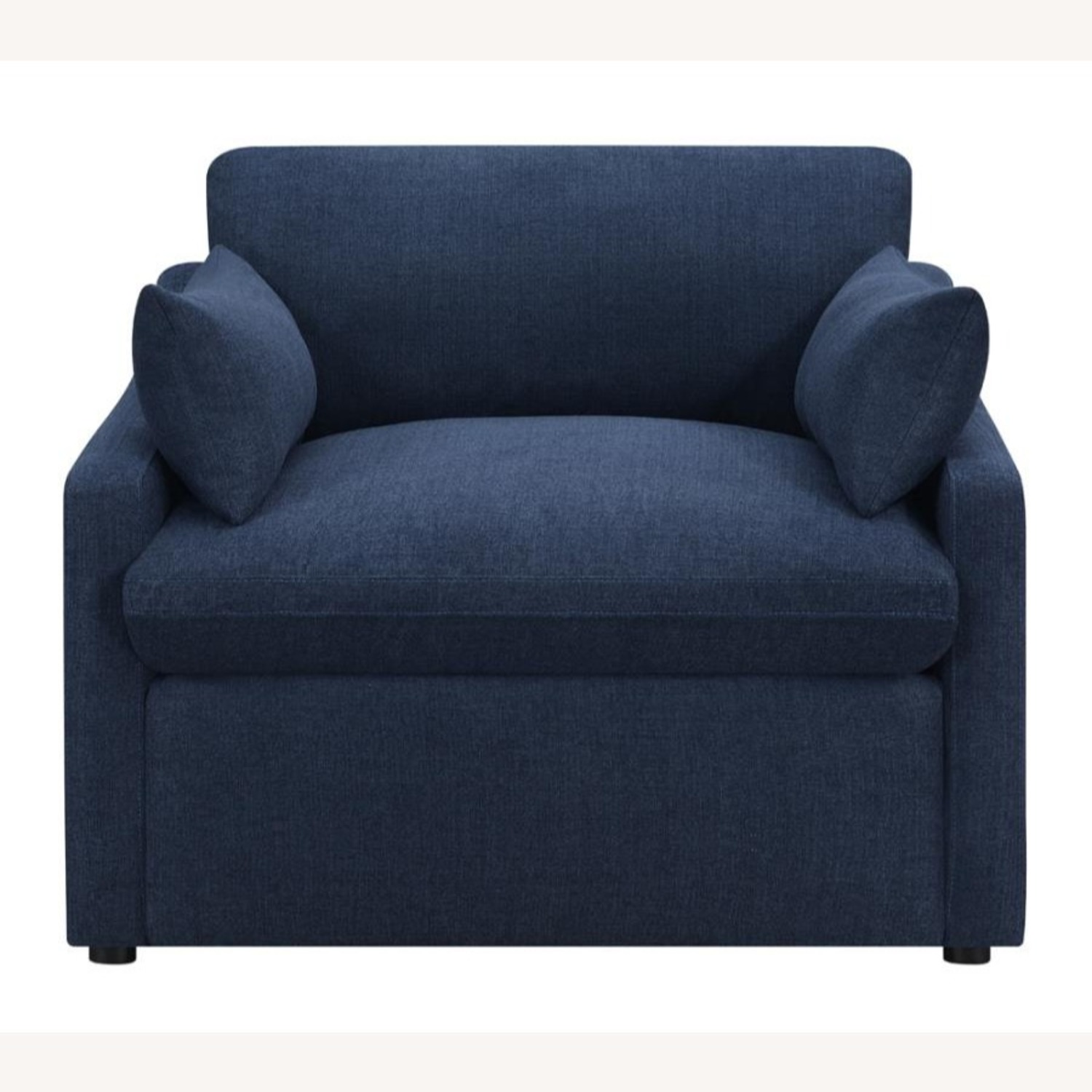 Power Recliner In Linen-Like Midnight Blue Fabric - image-1
