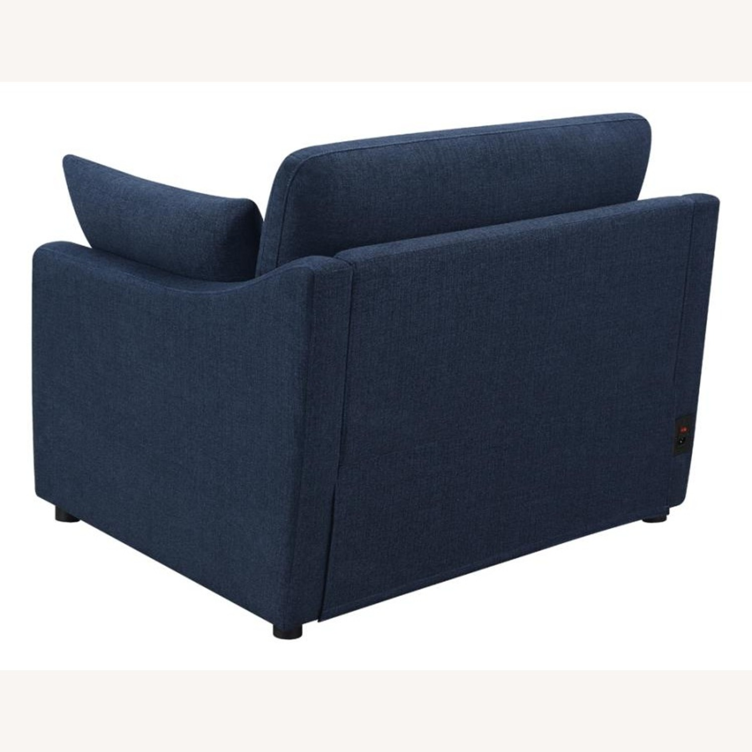 Power Recliner In Linen-Like Midnight Blue Fabric - image-2