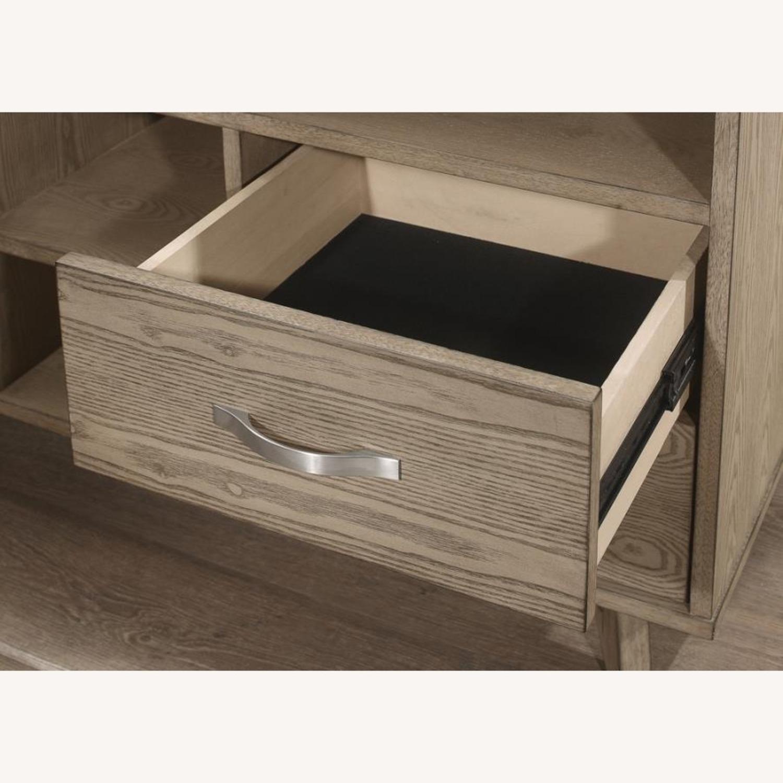 Modern Writing Desk In 2-Tone Grey Finish - image-1