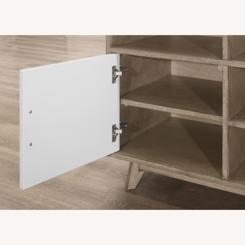 Modern Writing Desk In 2-Tone Grey Finish - image-2