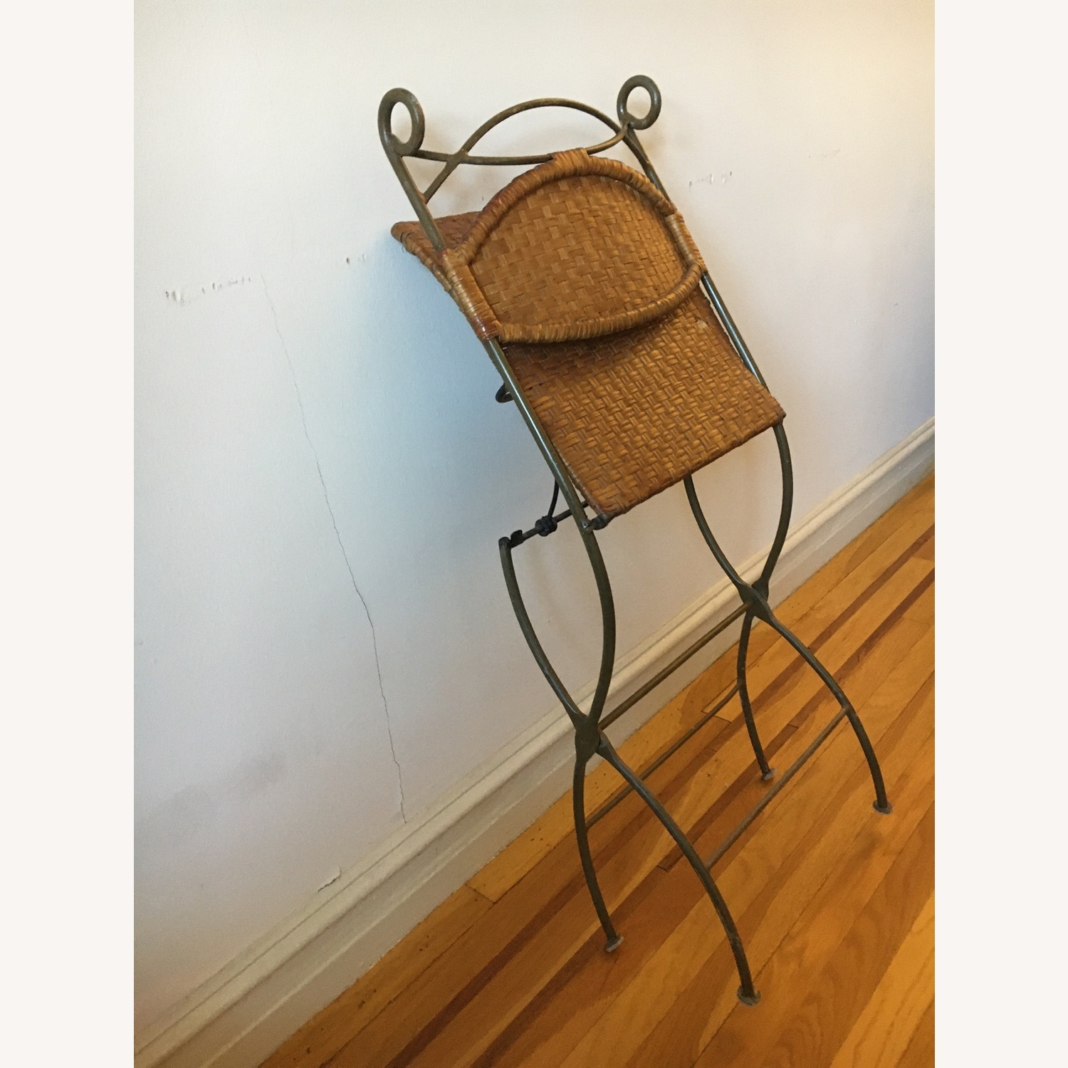 Metal and Rattan Folding Chairs - image-2