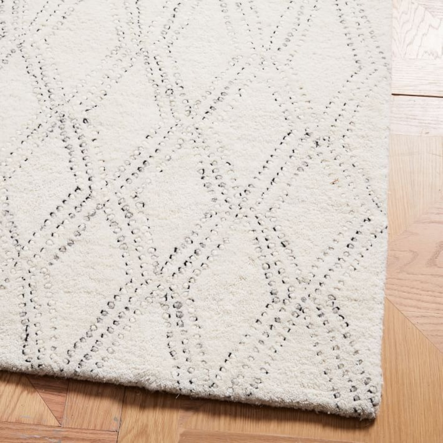 West Elm Hazy Lattice Rug, Ivory - image-2