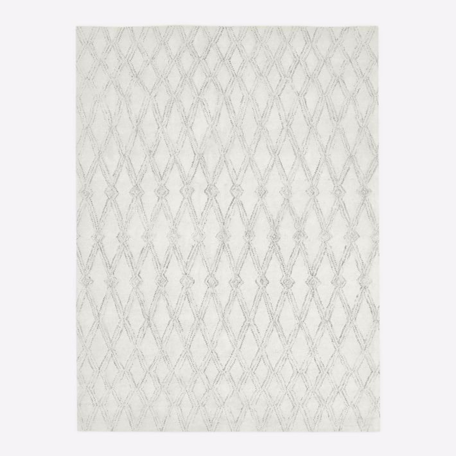 West Elm Hazy Lattice Rug, Ivory - image-3