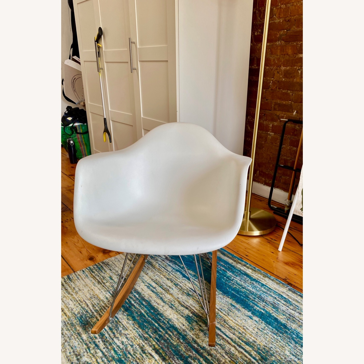 Eames Molded Plastic Armchair, Rocker Base - image-3