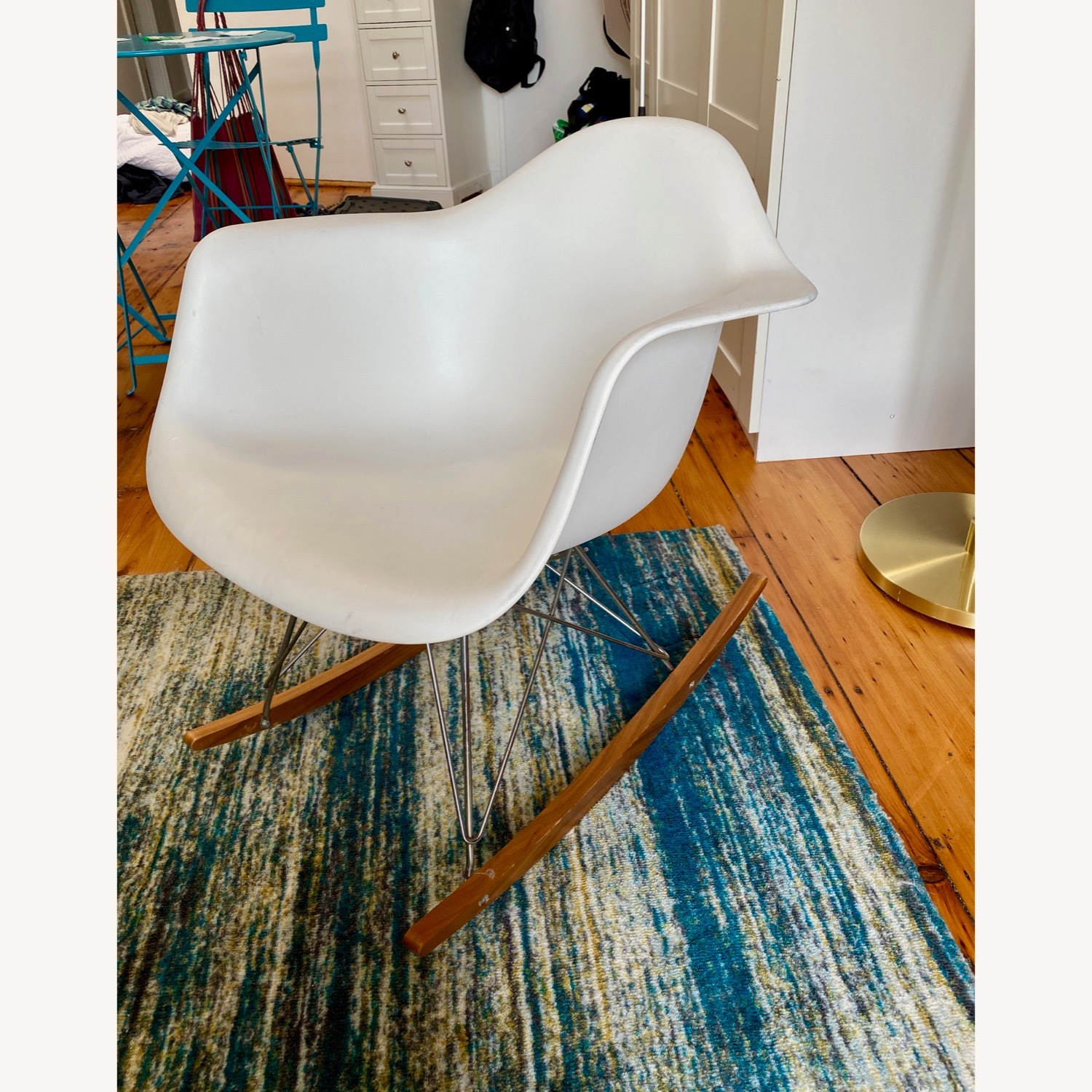 Eames Molded Plastic Armchair, Rocker Base - image-4