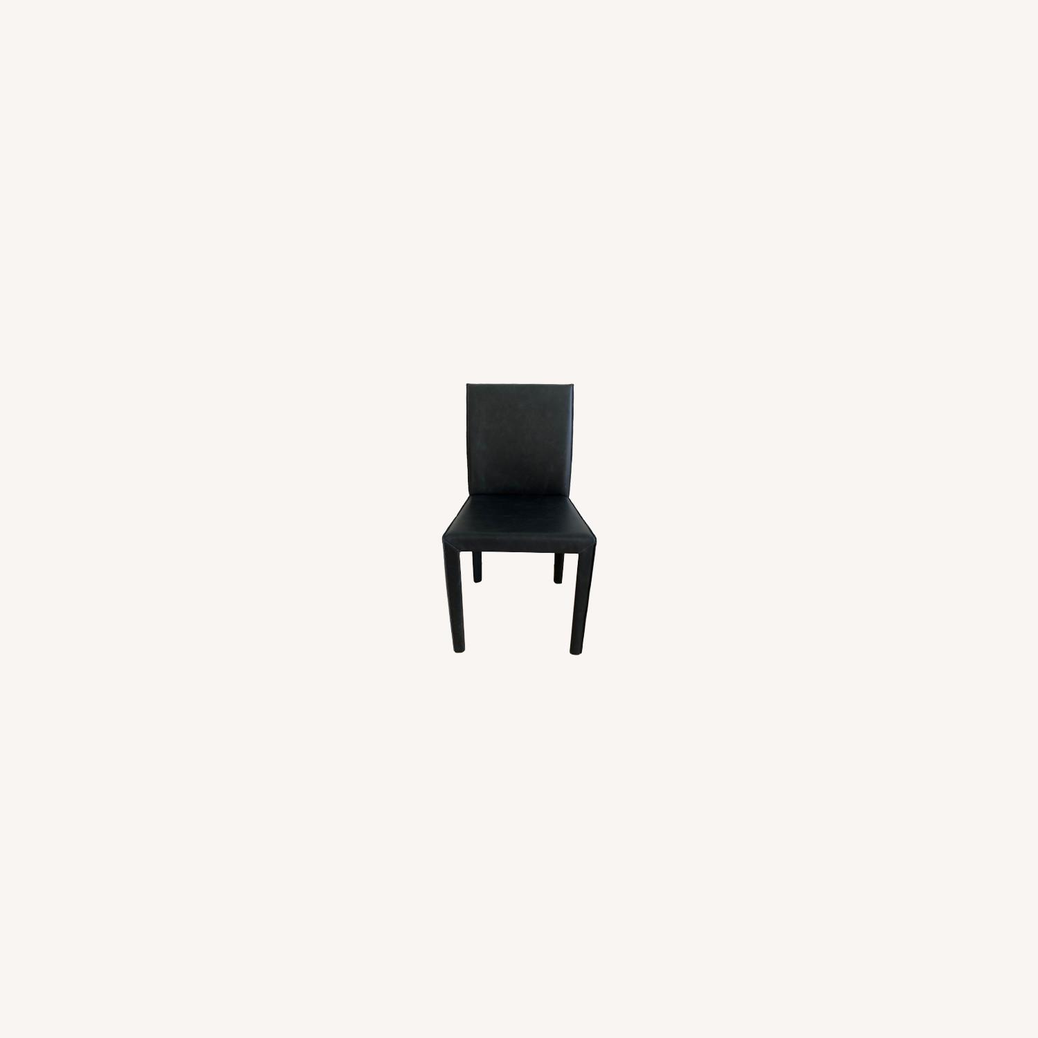 Crate & Barrel Leather Dining Chairs - image-0