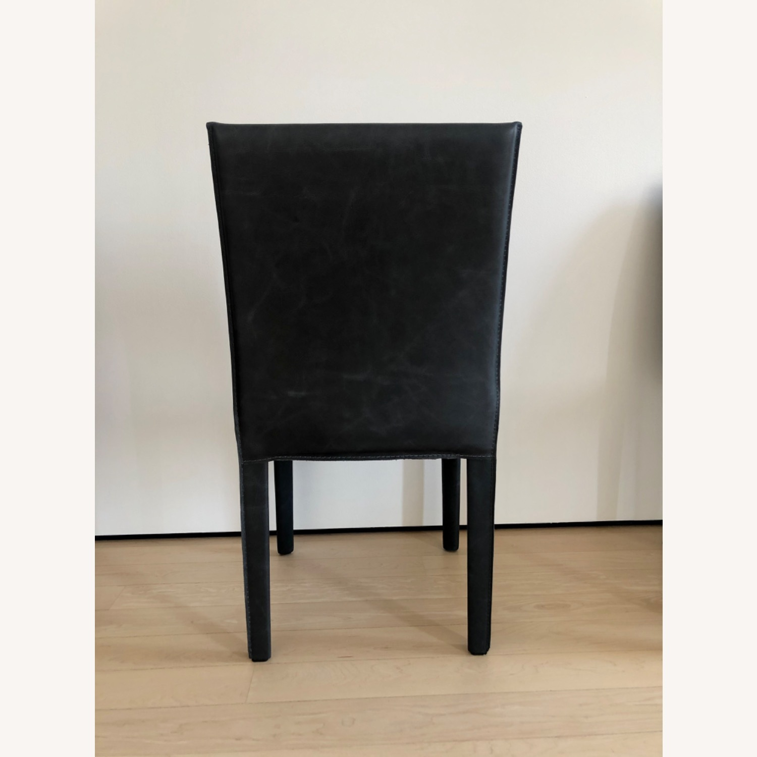 Crate & Barrel Leather Dining Chairs - image-5