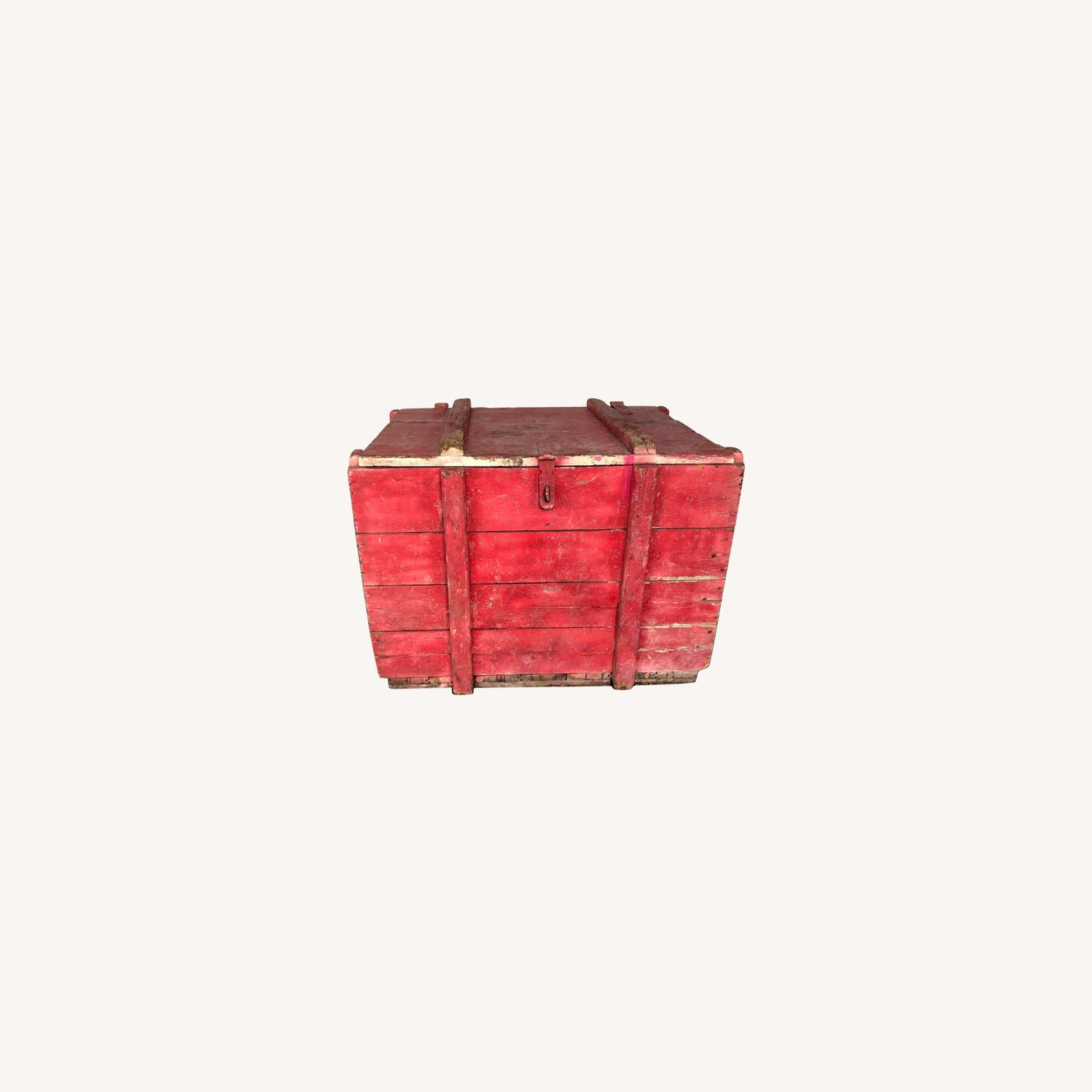 Hand-made Rustic Wooden Storage Box - image-0