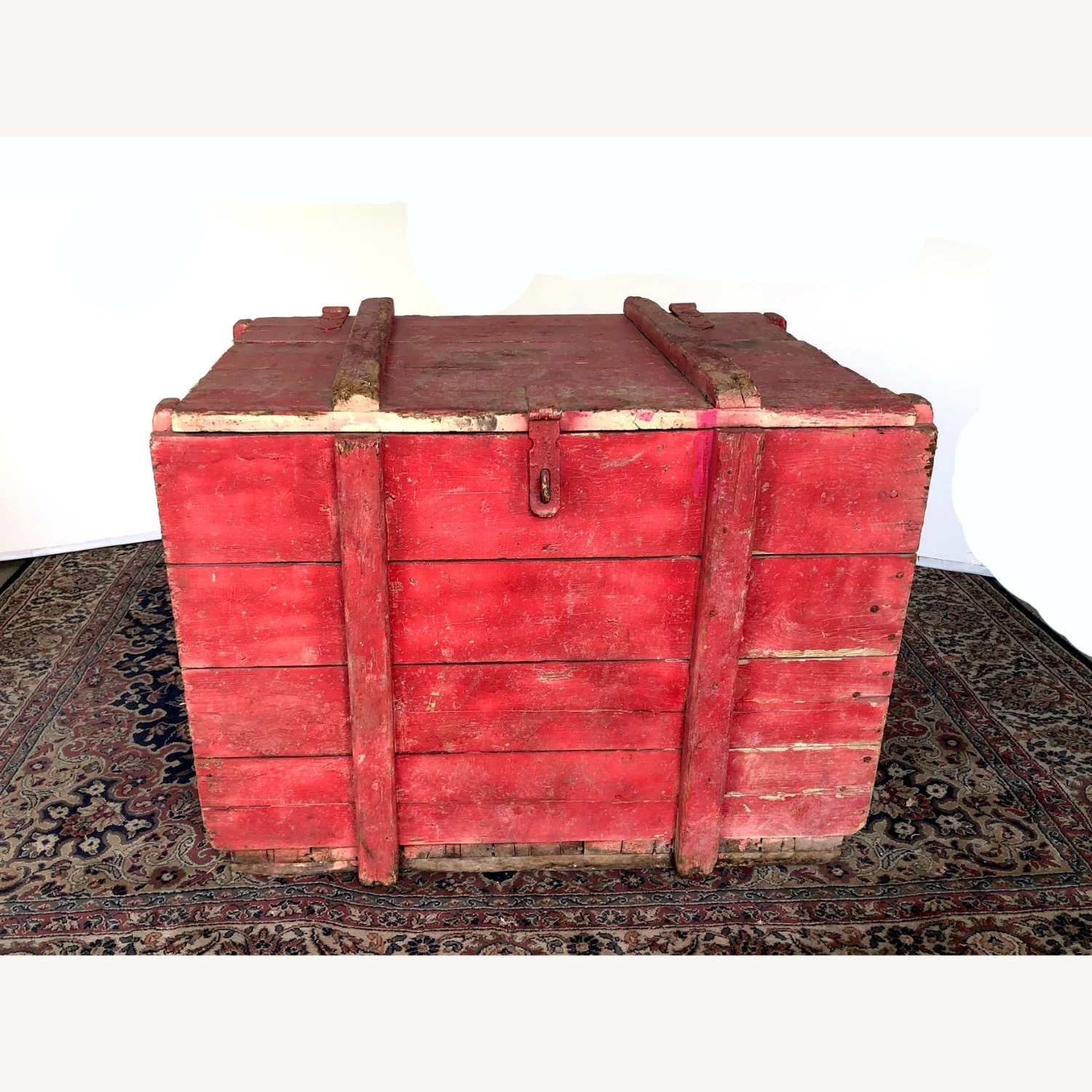 Hand-made Rustic Wooden Storage Box - image-1