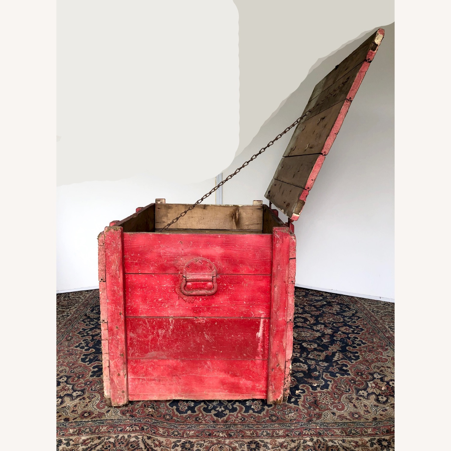 Hand-made Rustic Wooden Storage Box - image-2