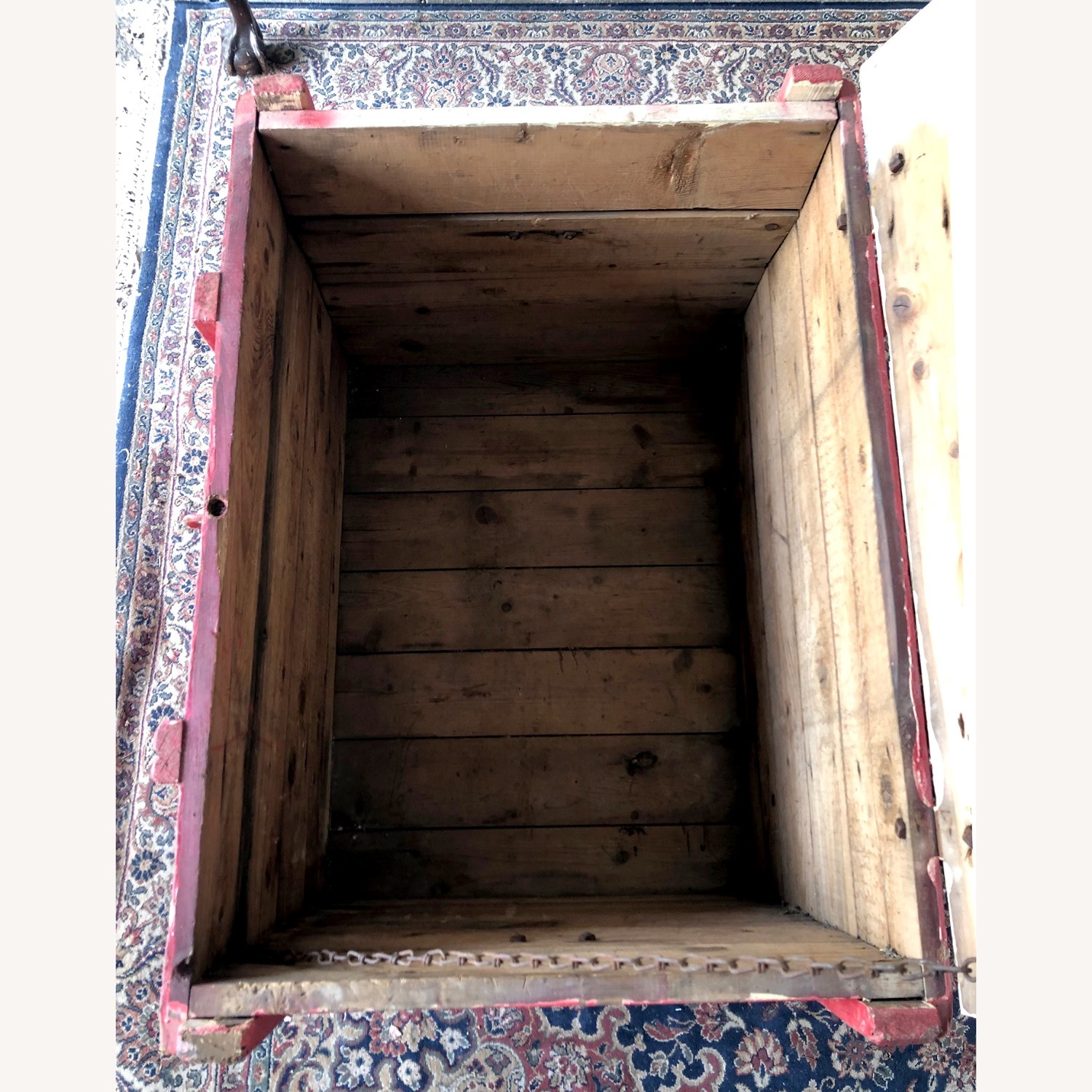 Hand-made Rustic Wooden Storage Box - image-6