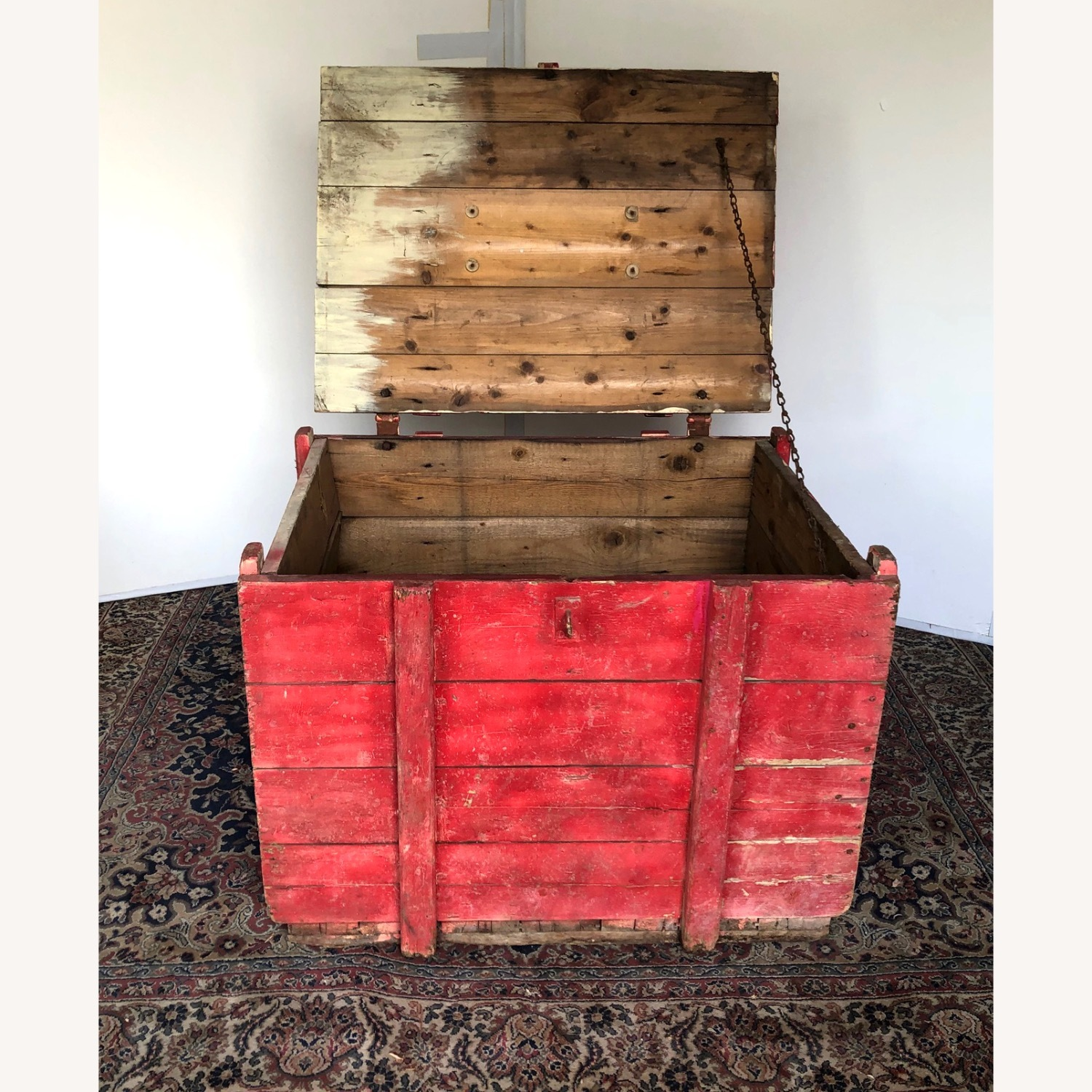Hand-made Rustic Wooden Storage Box - image-7