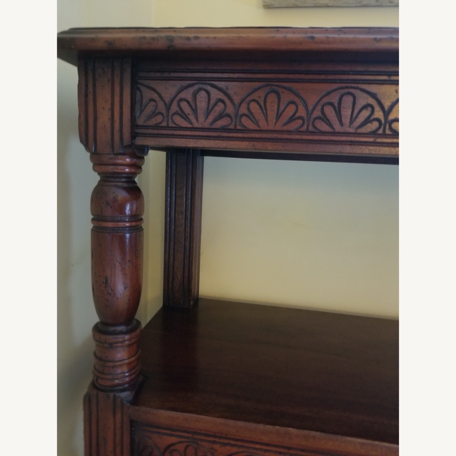 Traditional Wood Bookcase with Detail - image-2