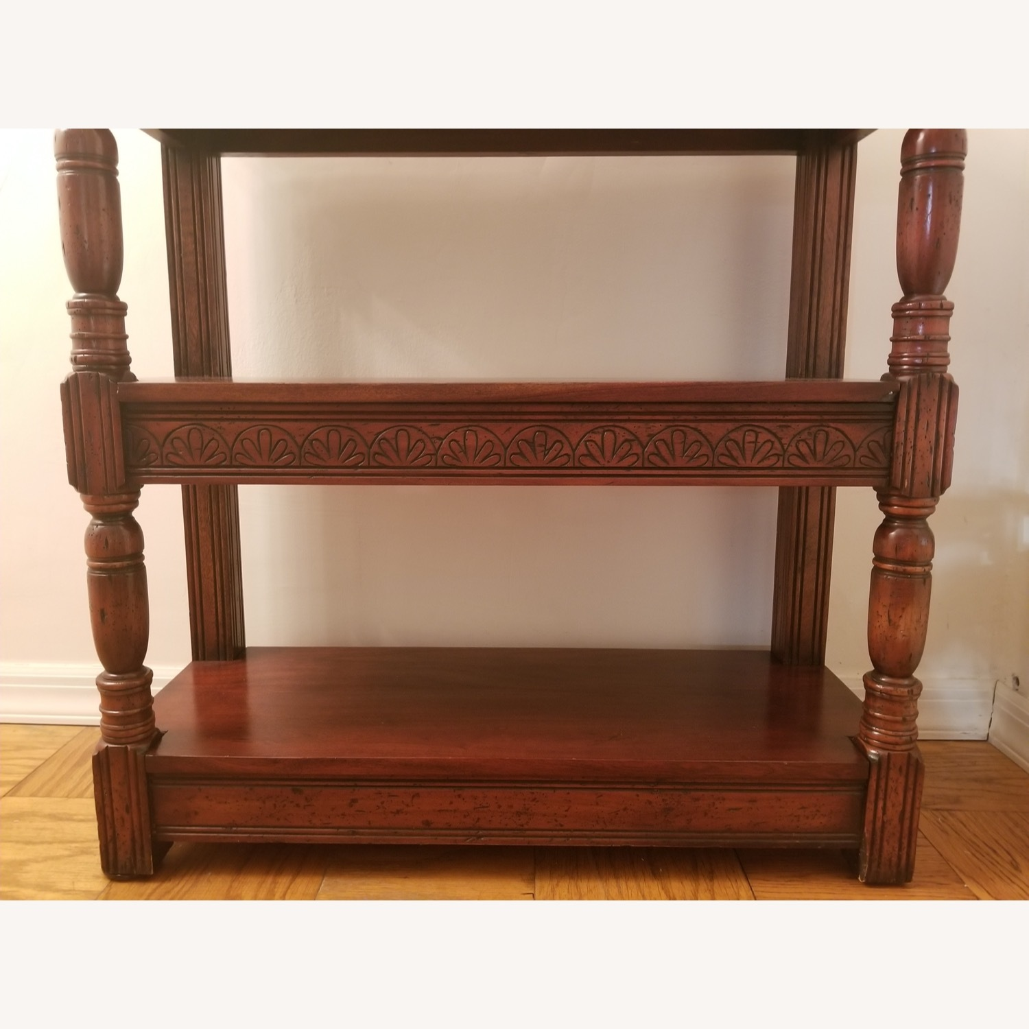 Traditional Wood Bookcase with Detail - image-7