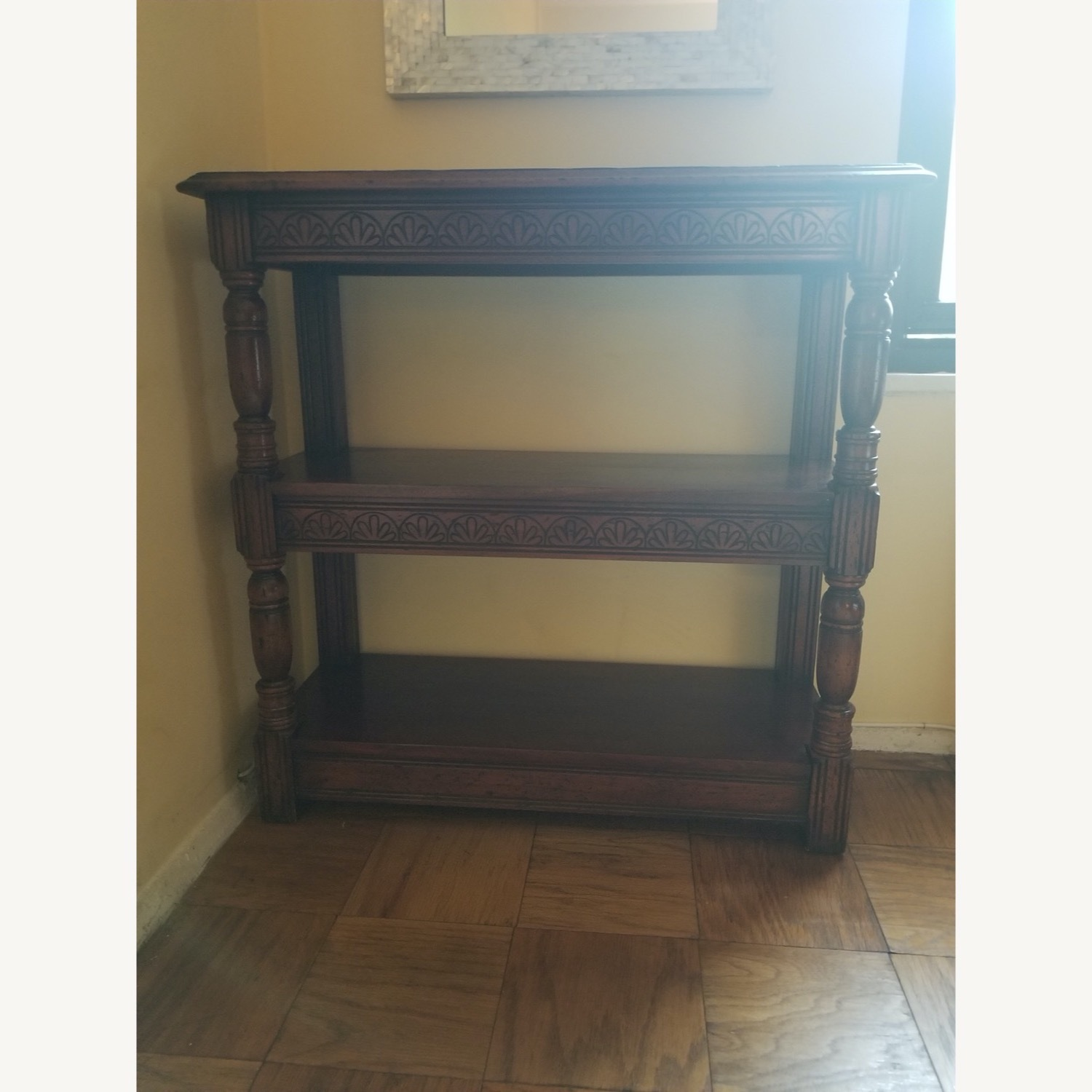 Traditional Wood Bookcase with Detail - image-1