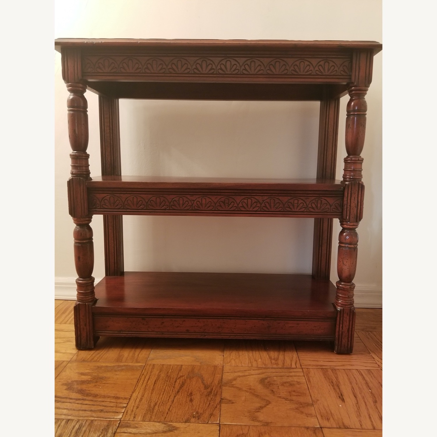 Traditional Wood Bookcase with Detail - image-10