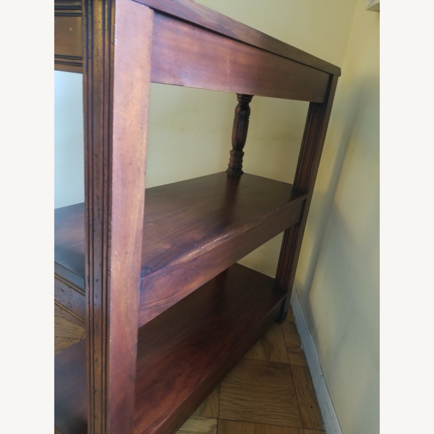 Traditional Wood Bookcase with Detail - image-5