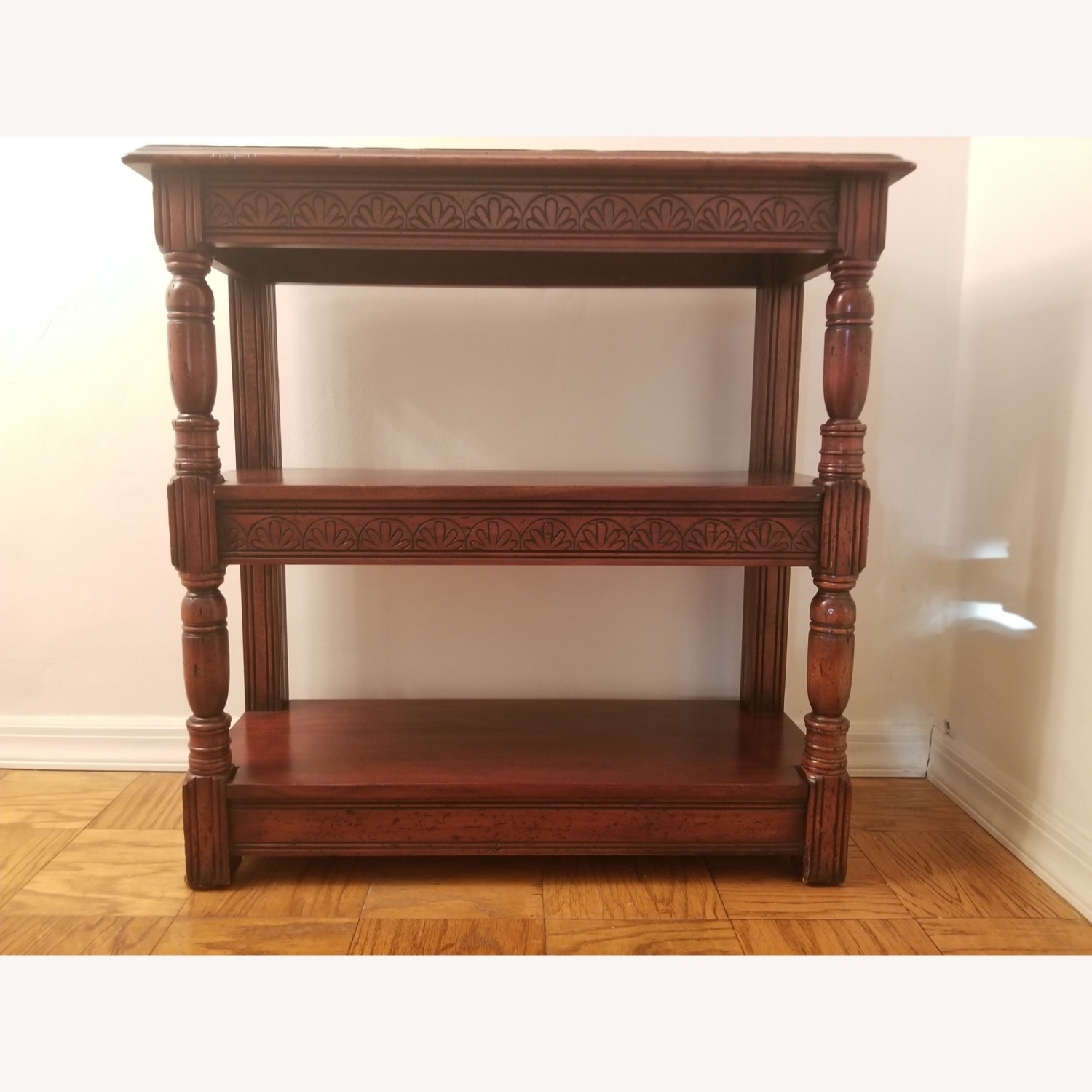 Traditional Wood Bookcase with Detail - image-6