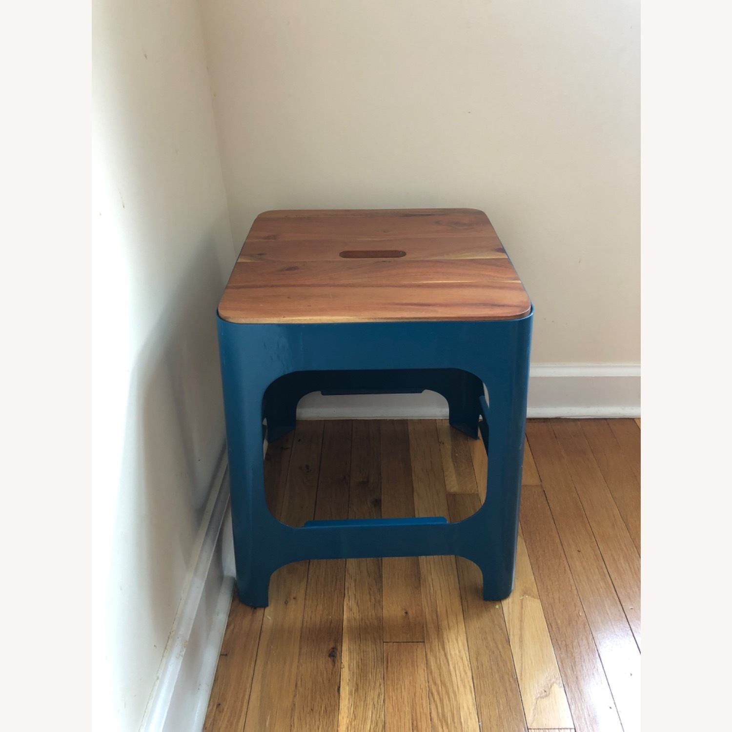 CB2 Hitch Stool in Peacock blue - image-1