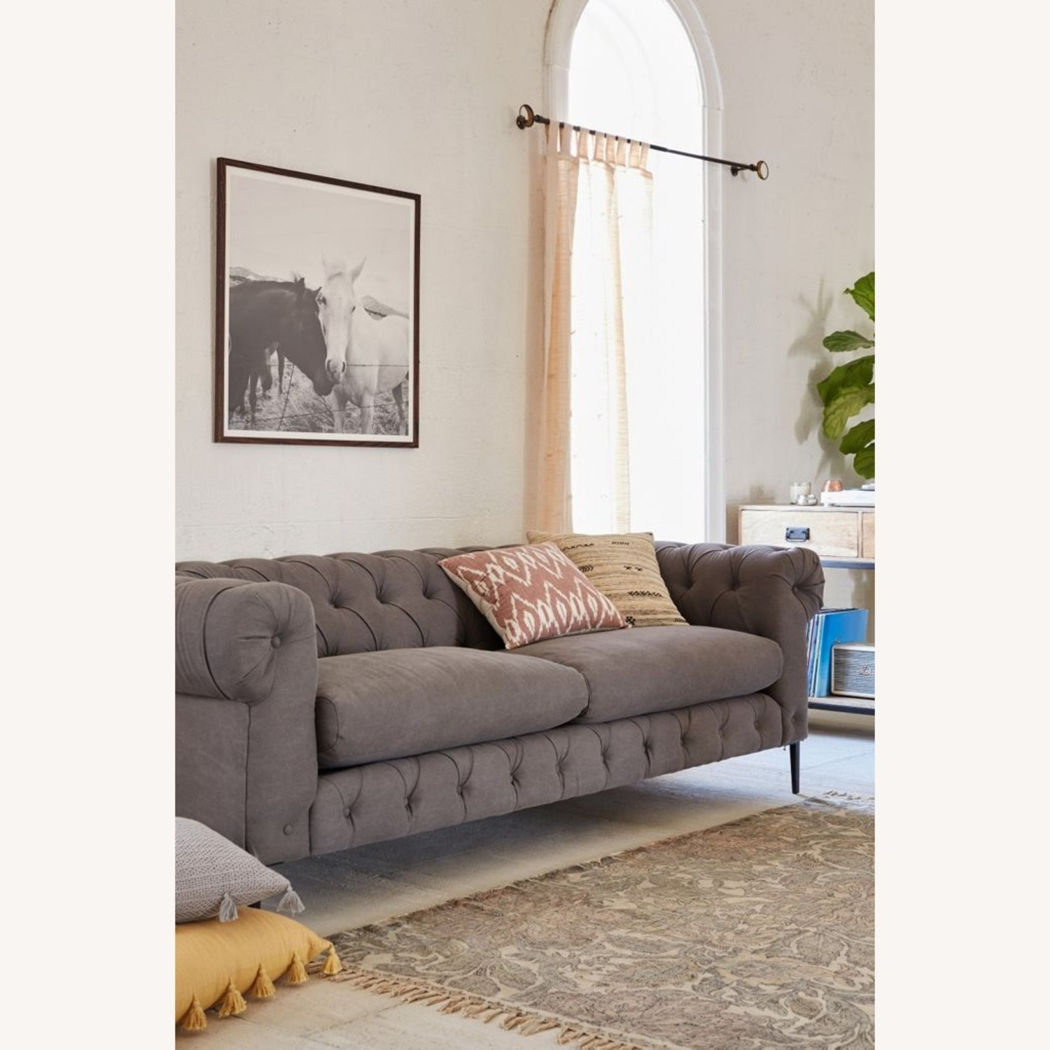 Anthropologie Canal Tufted Sofa - image-0
