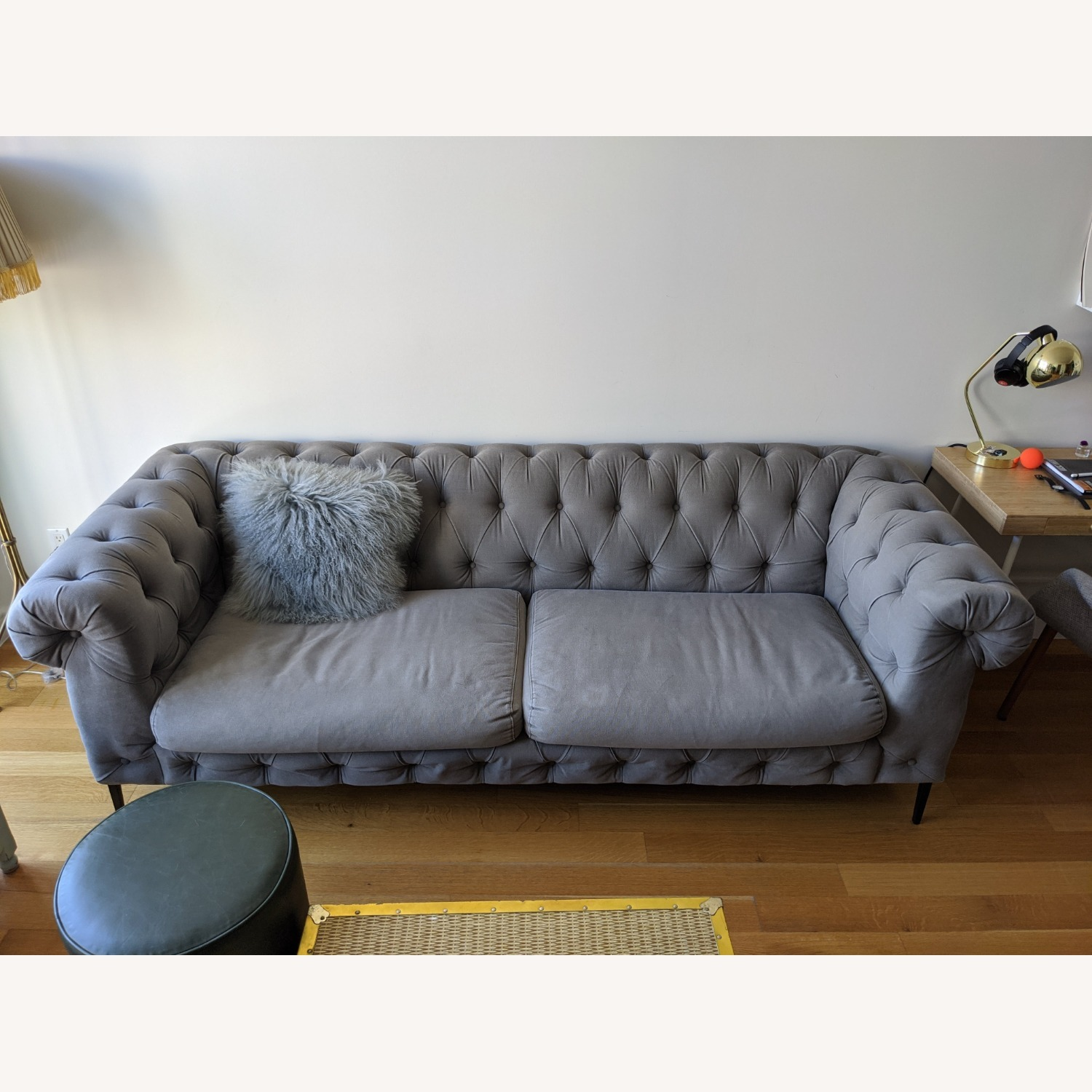 Anthropologie Canal Tufted Sofa - image-9