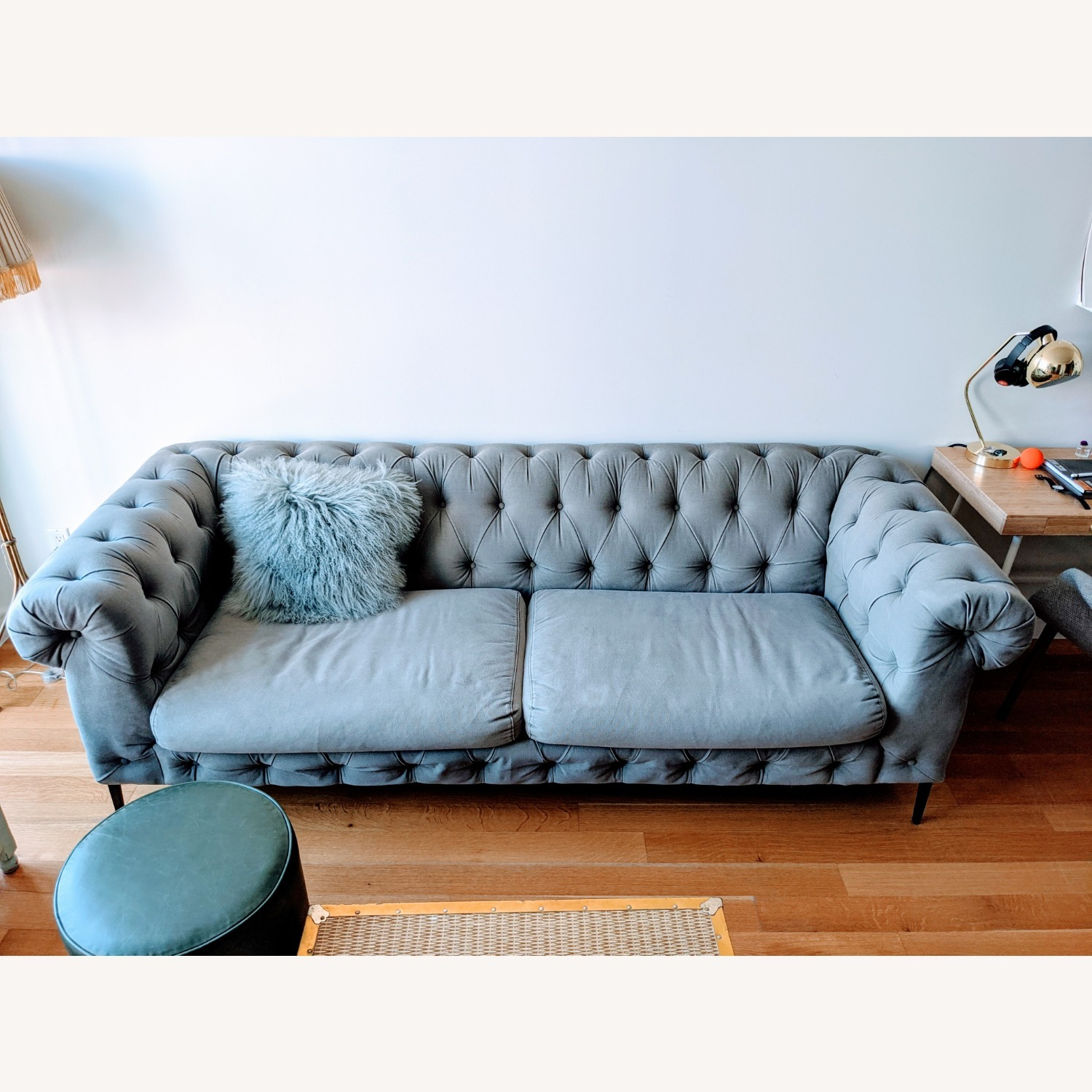 Anthropologie Canal Tufted Sofa - image-1