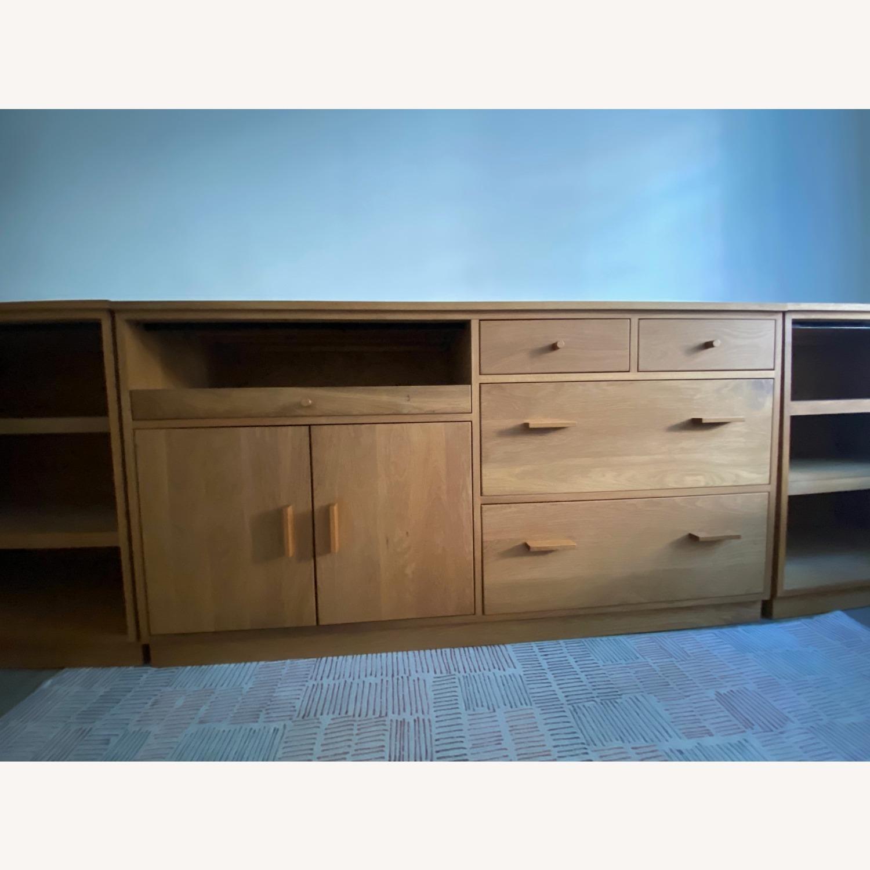 Room & Board Custom Desk w Filing Cabinets - image-2
