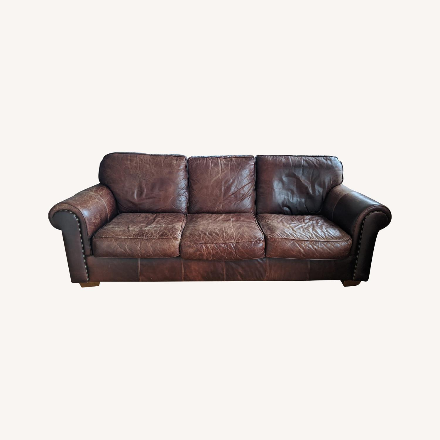 Brown Leather Bauhaus Sofa - image-0