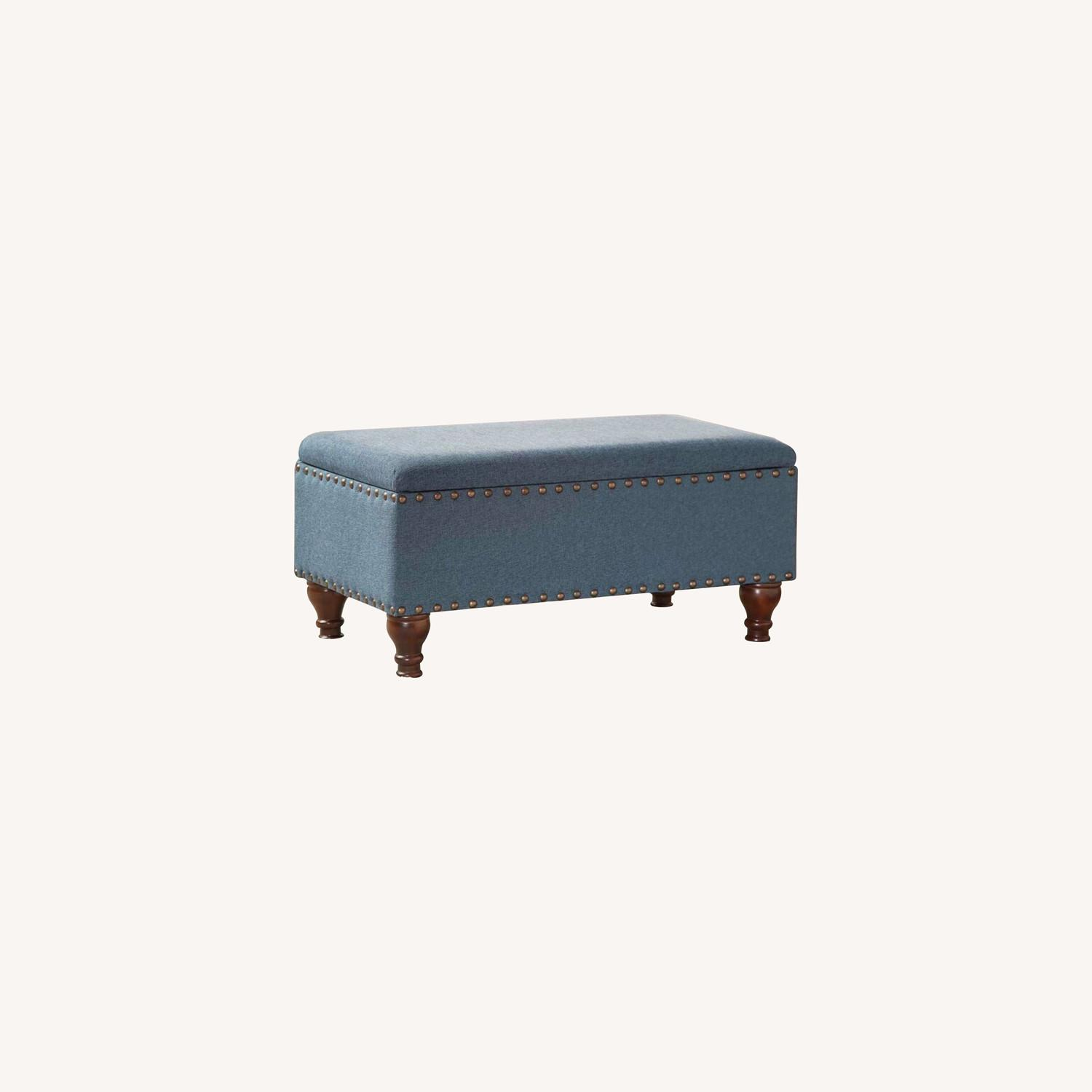 Wayfair Oakford Upholstered Flip Top Storage Bench - image-6