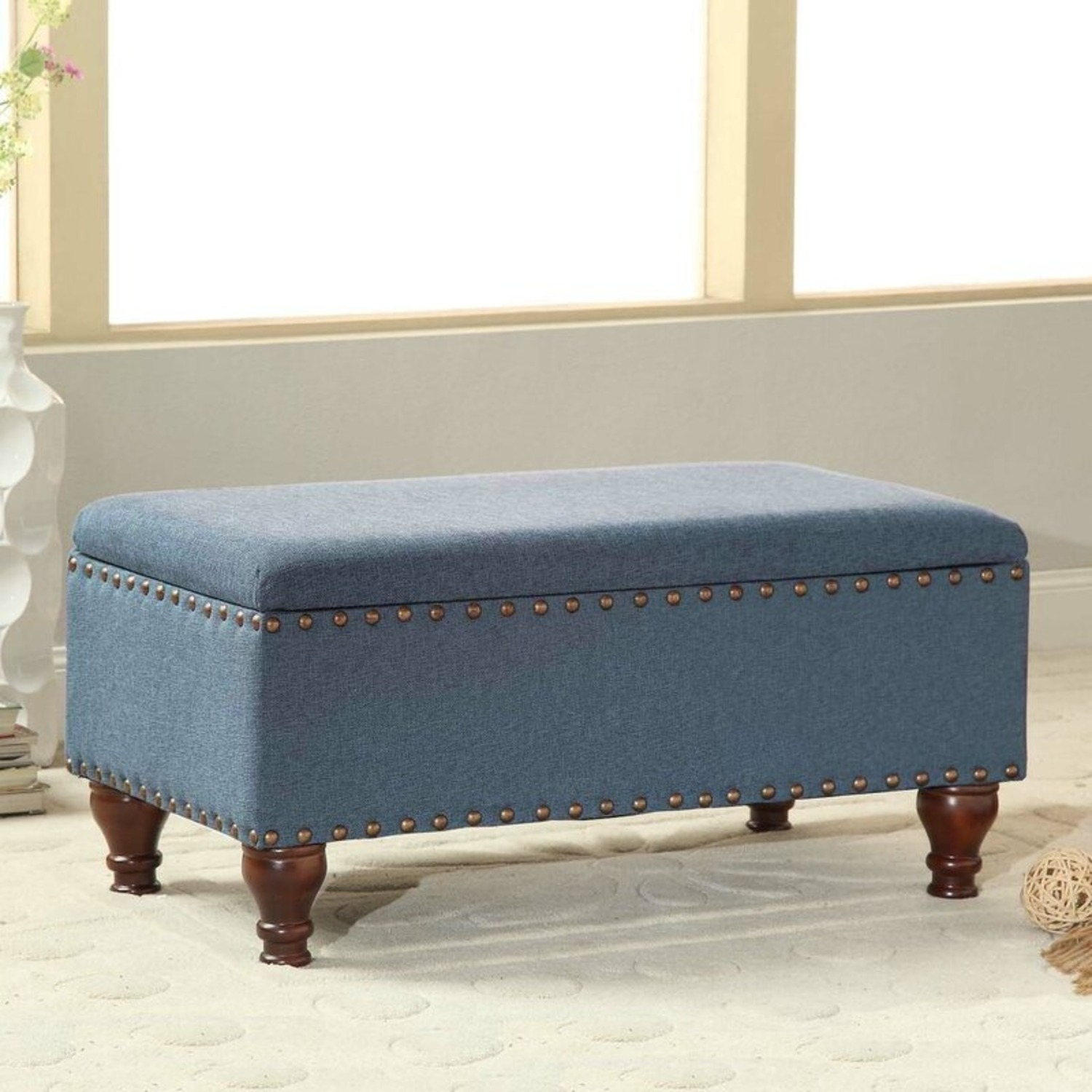 Wayfair Oakford Upholstered Flip Top Storage Bench - image-1