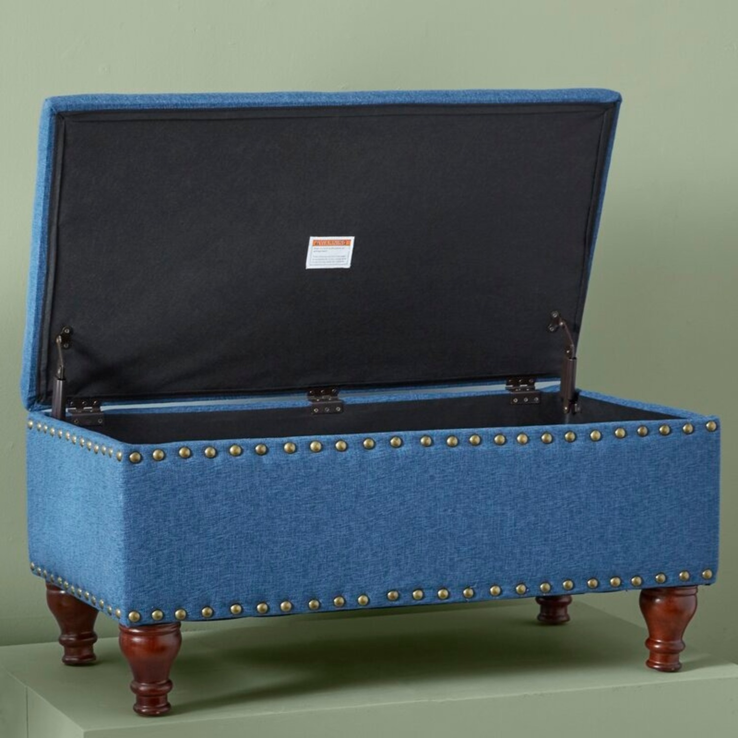 Wayfair Oakford Upholstered Flip Top Storage Bench - image-2