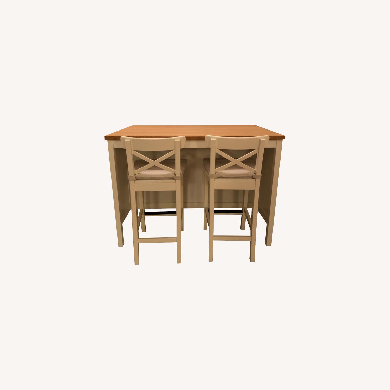 Ikea Wood Top Kitchen Island Breakfast Bar Aptdeco