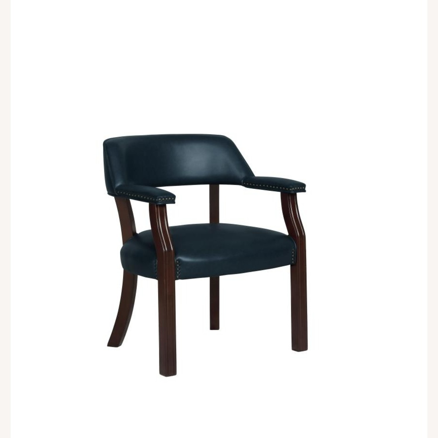 Guest Chair In Blue Leatherette - image-0