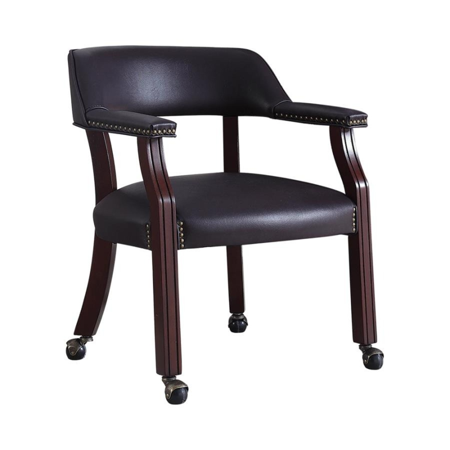 Guest Chair In Burgundy Leatherette Finish - image-0