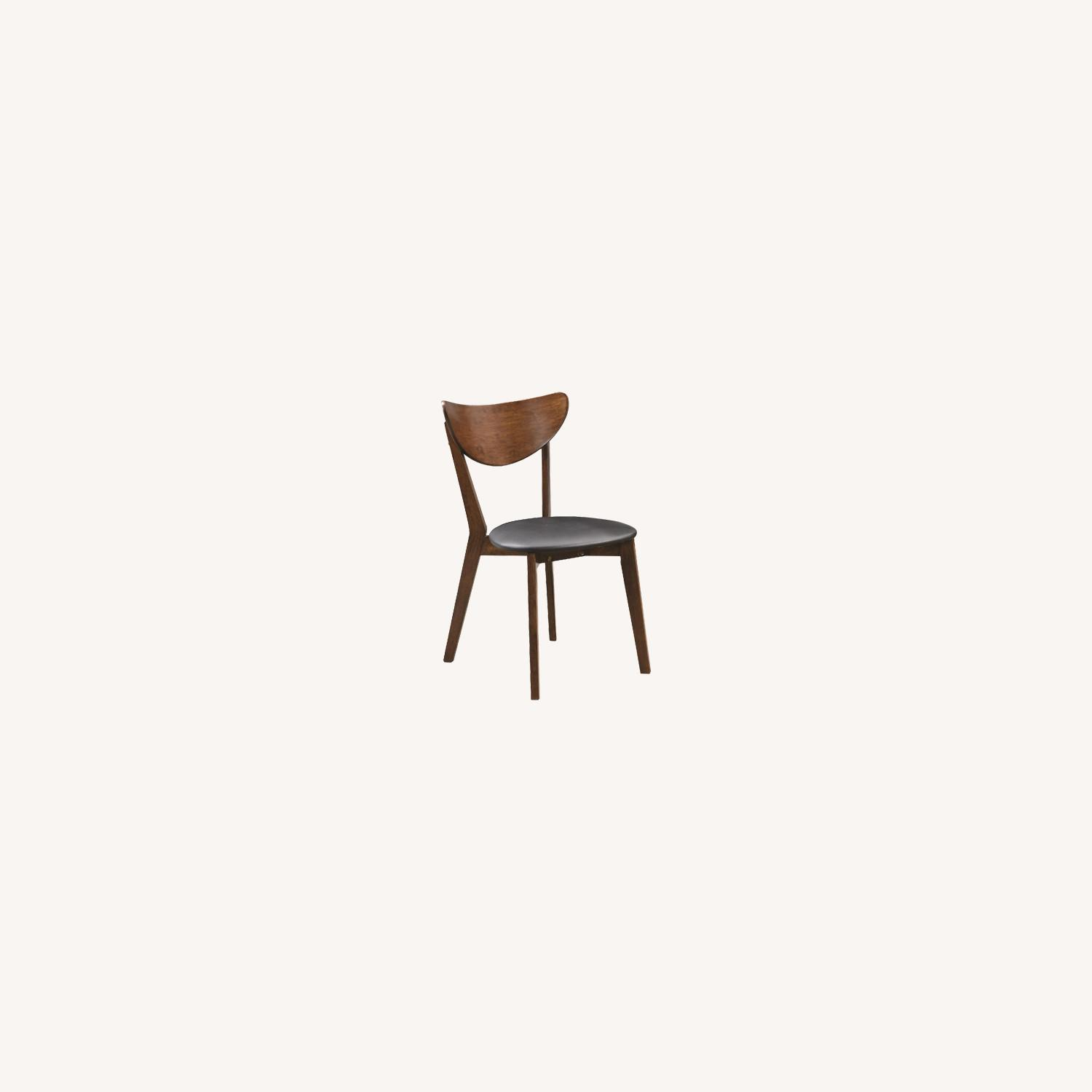 Mid-Century Retro  Dining Chairs in Walnut Finish - image-0