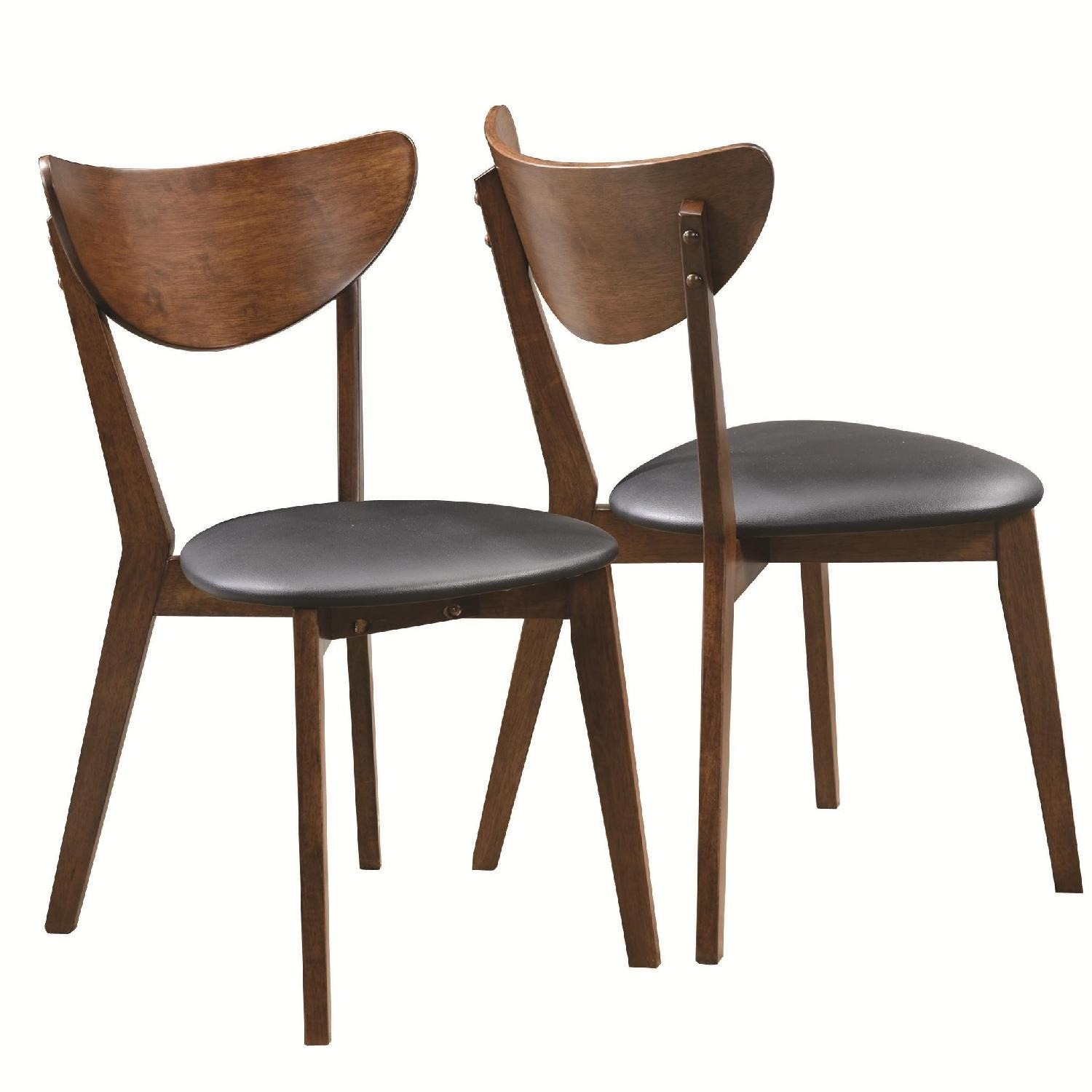 Mid-Century Retro  Dining Chairs in Walnut Finish - image-1