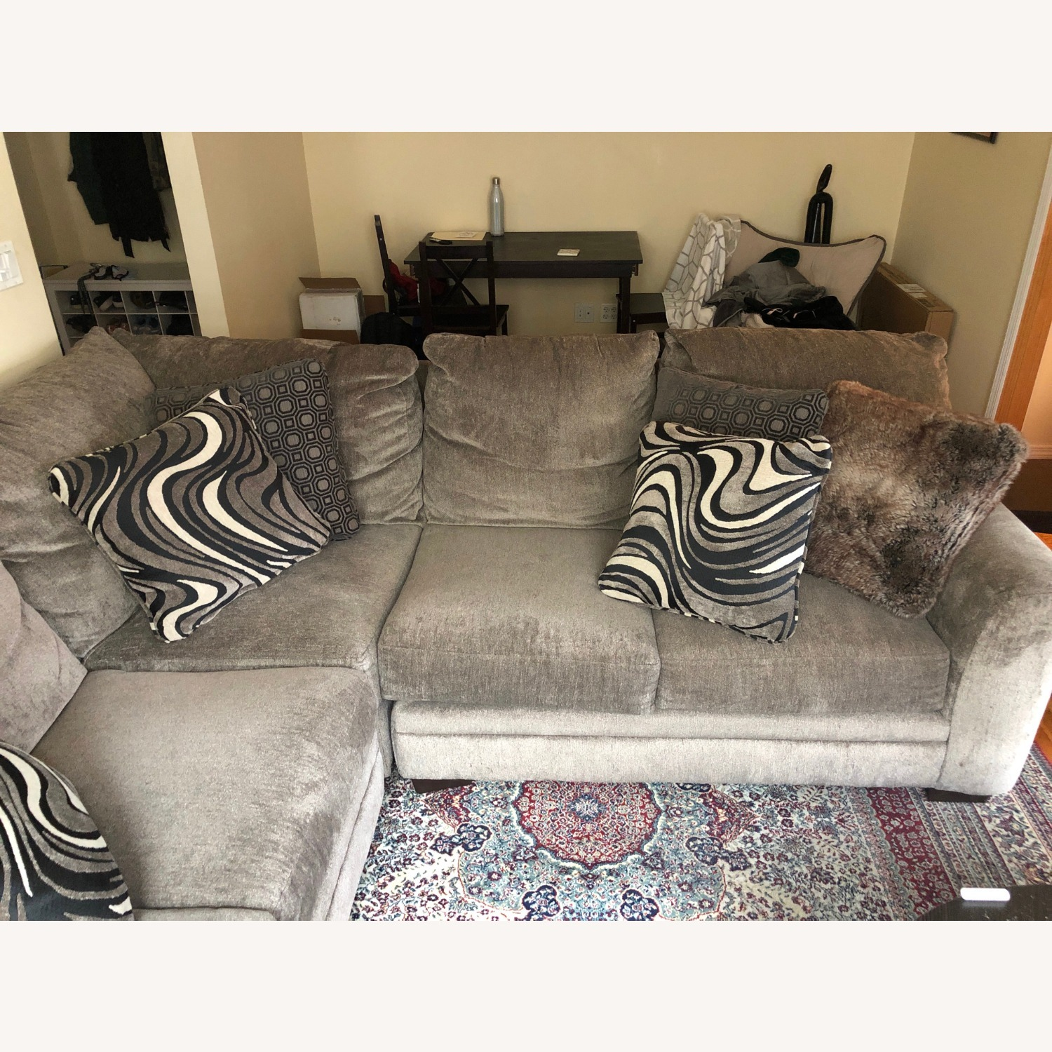 Bob's Luxe Gray 3 Piece Sectional - image-2